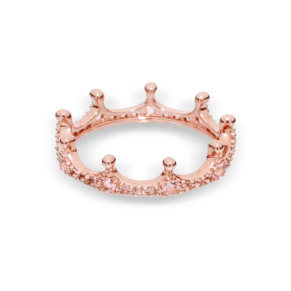 Featured Photo of Pink Sparkling Crown Rings