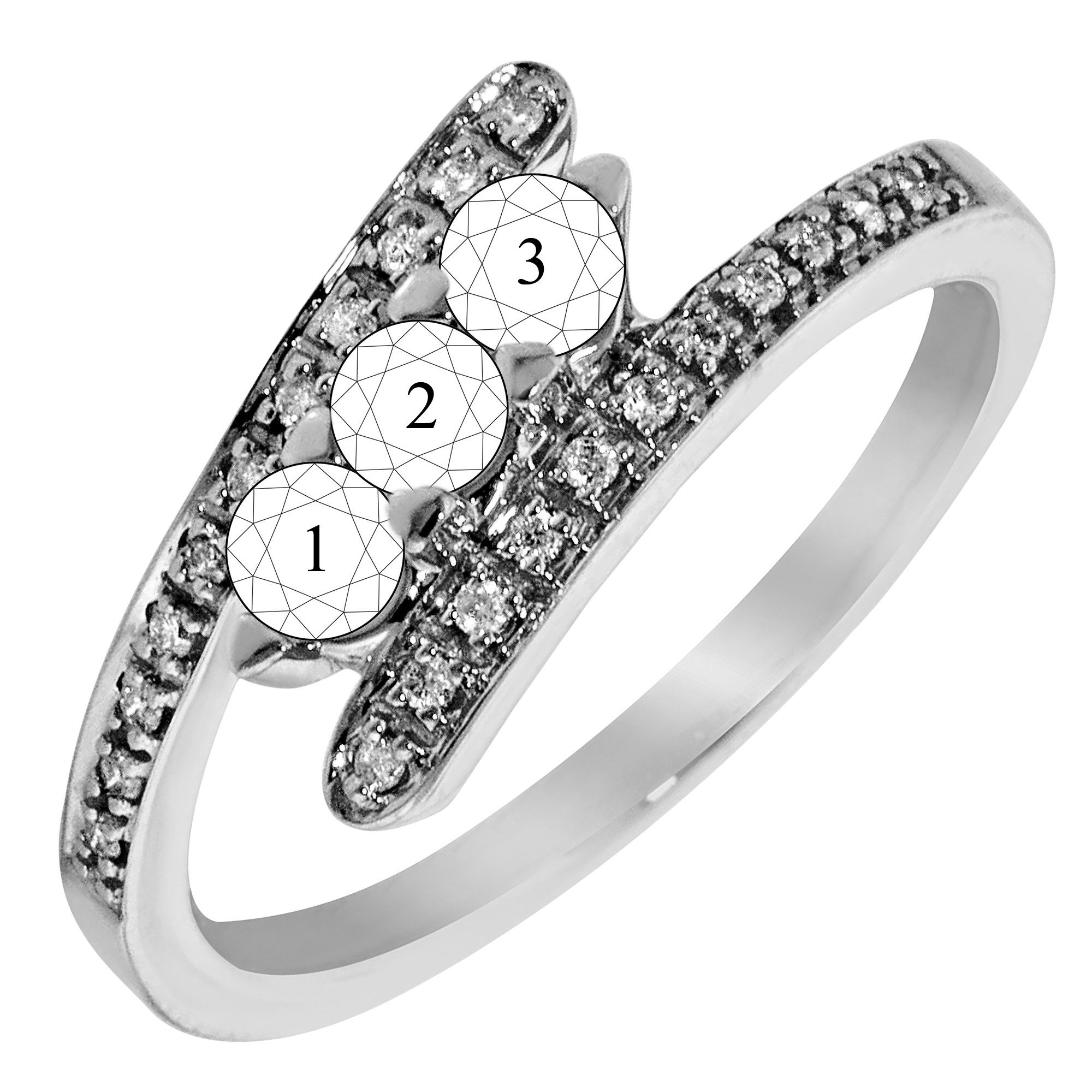 Pinsasha Sanders On Sparkles! In 2019 | Mother Rings Pertaining To Most Recent Diamond Seven Stone Bypass Anniversary Bands In Sterling Silver (View 7 of 25)