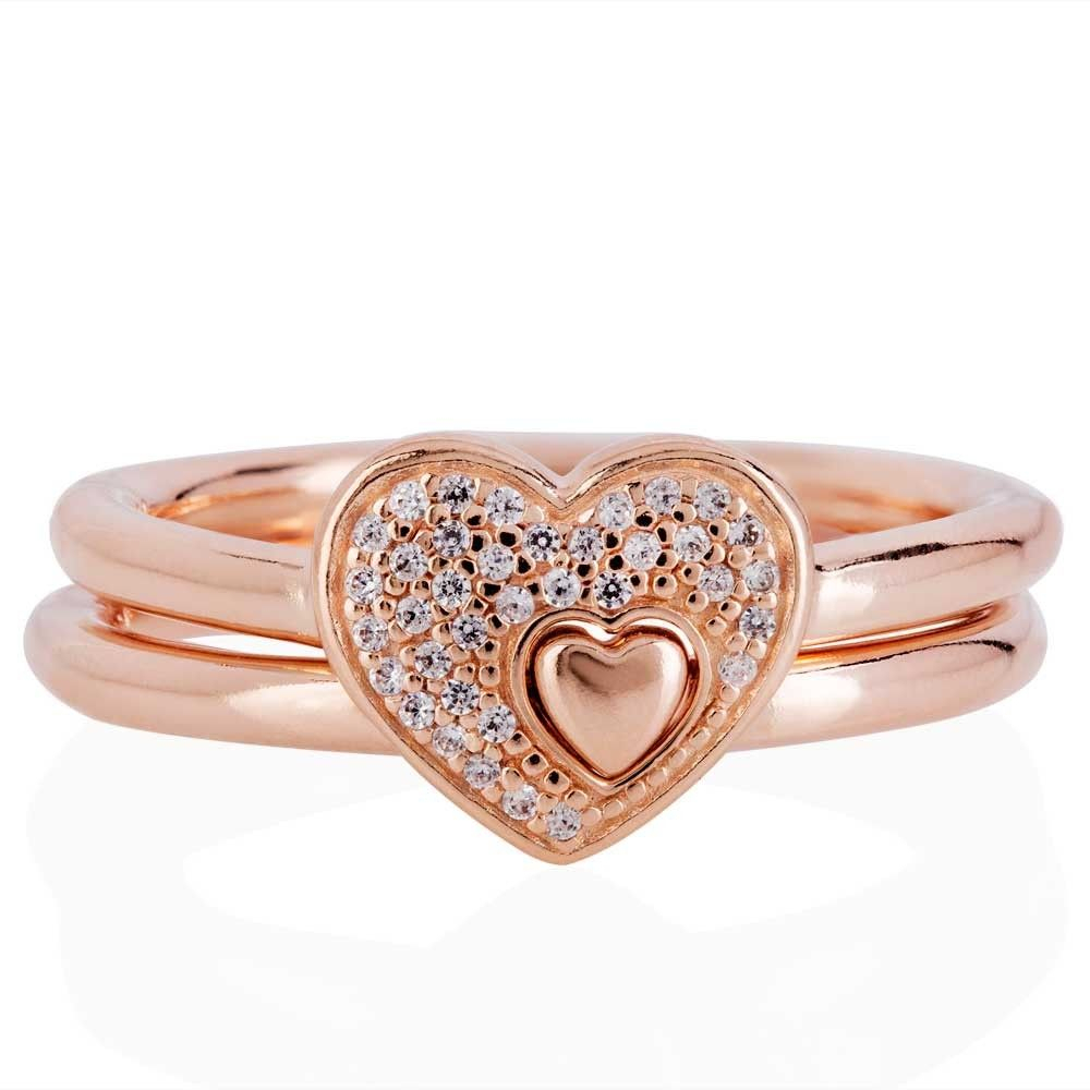 Pinsylvia On Jewelry | Pandora Rings Rose, Pandora Rings Pertaining To Newest Pavé Puzzle Heart Rings (View 6 of 25)