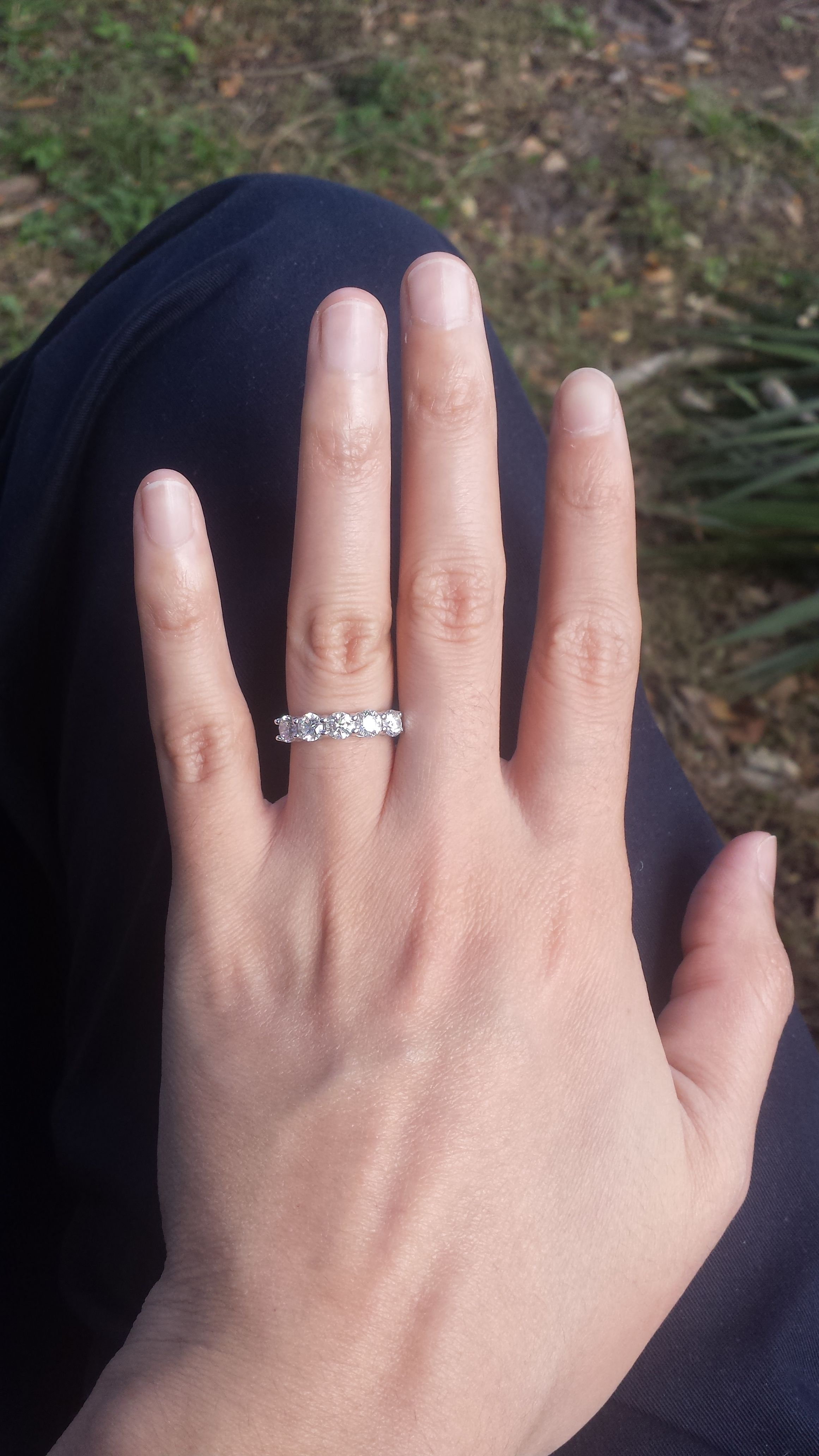 """Please Show Me Your 5 Stone Or 7 Stone Wedding Bands Throughout Recent Diamond Seven Stone """"s"""" Anniversary Bands In Sterling Silver (View 3 of 25)"""