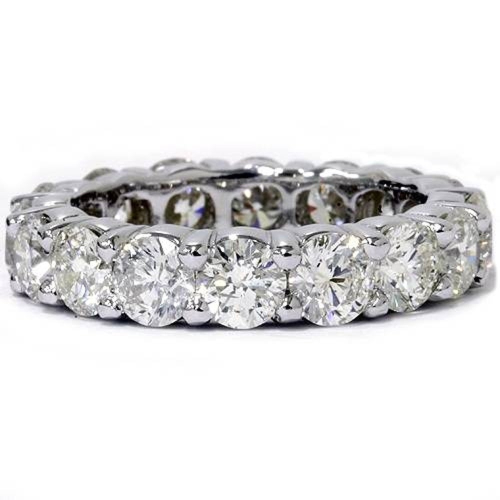 Pompeii3 14K White Gold 5 Ct Tdw Diamond Wedding Eternity Ring Womens  Stackable Anniversary Band With Most Up To Date Diamond Anniversary Bands In White Gold (Gallery 7 of 25)