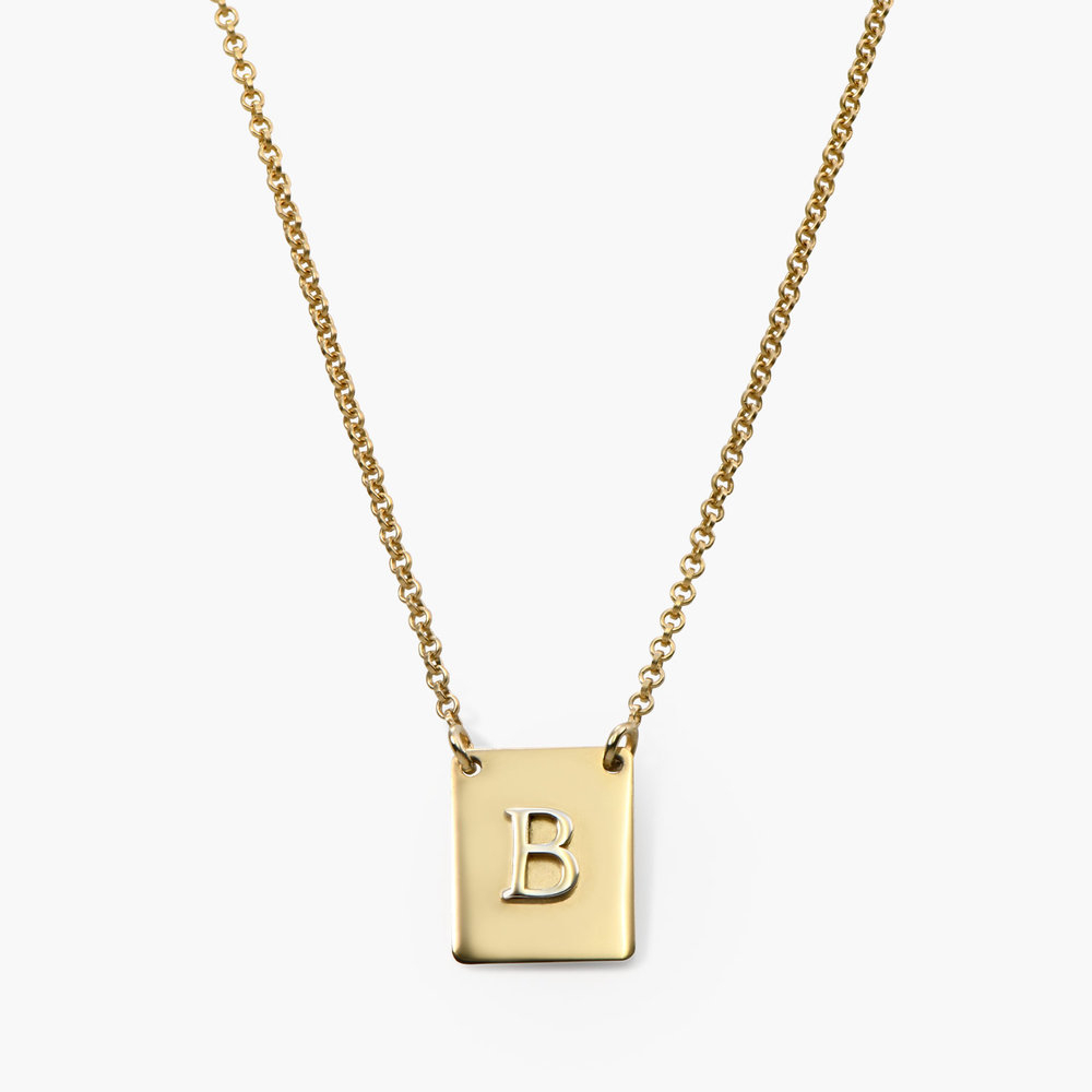 Pop Up Initial Necklace, Gold Plated With Regard To Recent Letter P Alphabet Locket Element Necklaces (View 18 of 26)