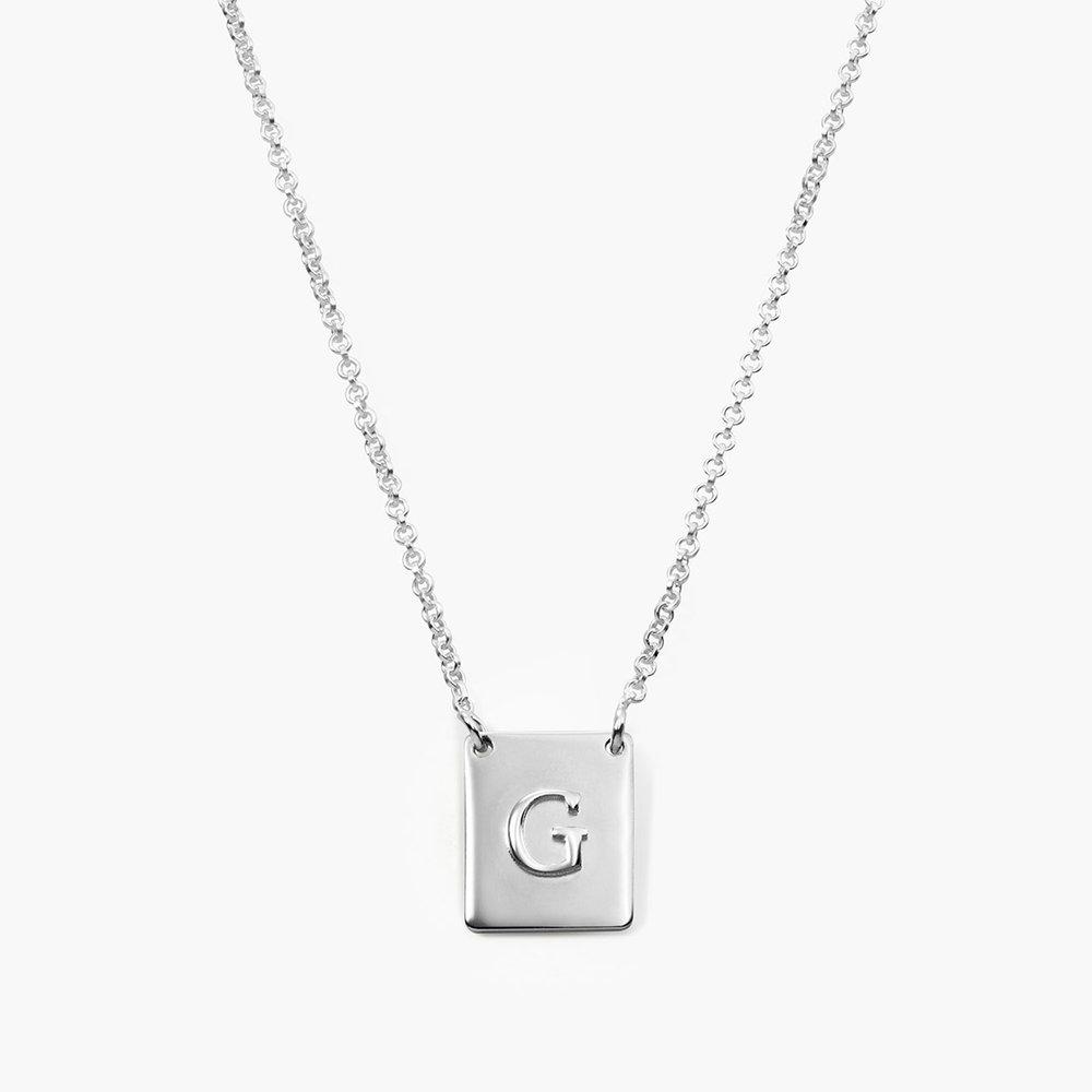 Pop Up Initial Necklace, Silver Regarding Current Letter Z Alphabet Locket Element Necklaces (View 20 of 25)