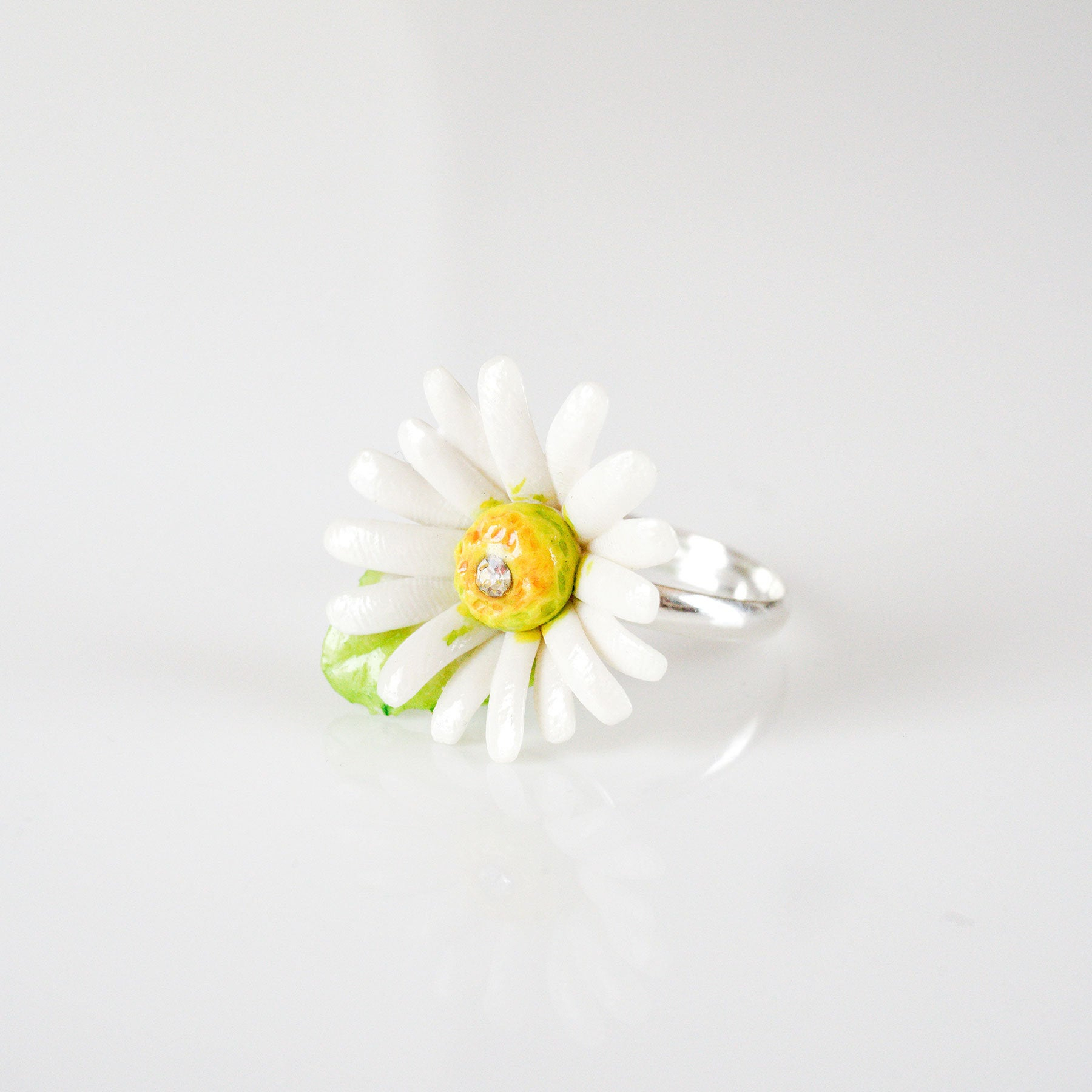 Porcelain Daisy Ring/ Daisy Ring/ Ring/ Porcelain Ring/ Daisy/ Flower Ring/ Flower Jewellery/ Stacking Ring Regarding Most Recent Daisy Flower Rings (View 15 of 25)