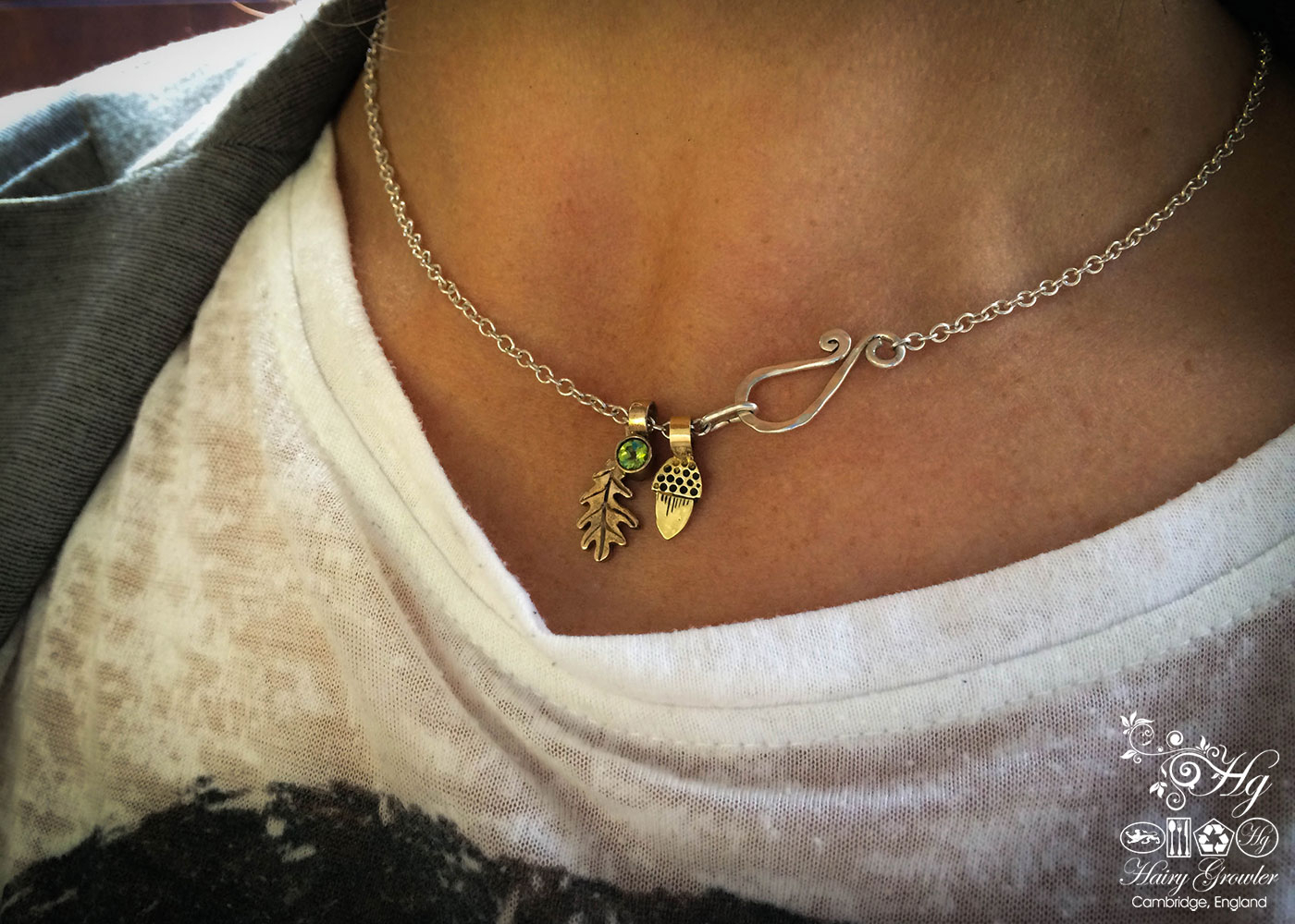 Precious Little Oak Leaf Within Best And Newest Oak Leaf Necklaces (View 13 of 25)
