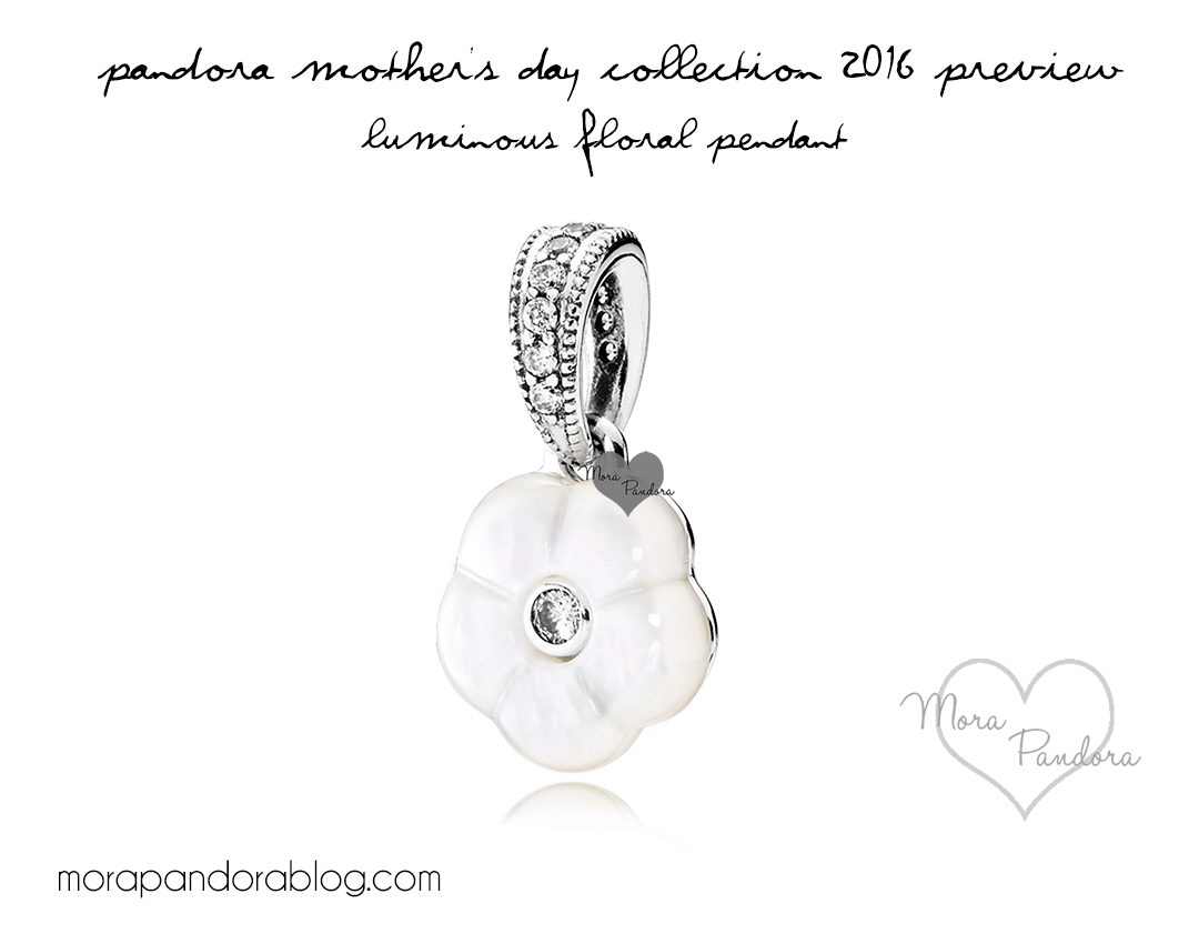 Preview: Pandora Mother's Day 2016 Jewellery | Mora Pandora Within Newest Luminous Florals Pendant Necklaces (View 20 of 25)