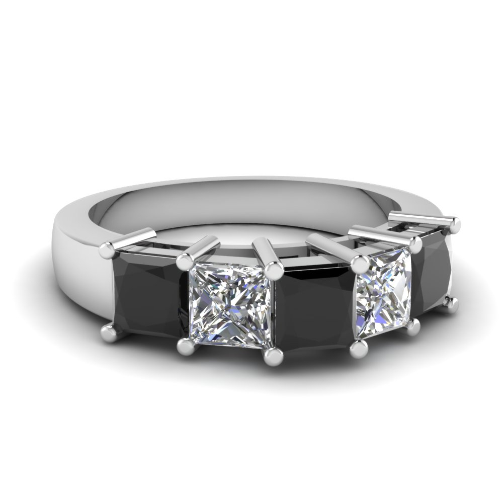 Princess Brilliance Band Intended For Recent Princess Cut Diamond Anniversary Bands In White Gold (View 13 of 25)