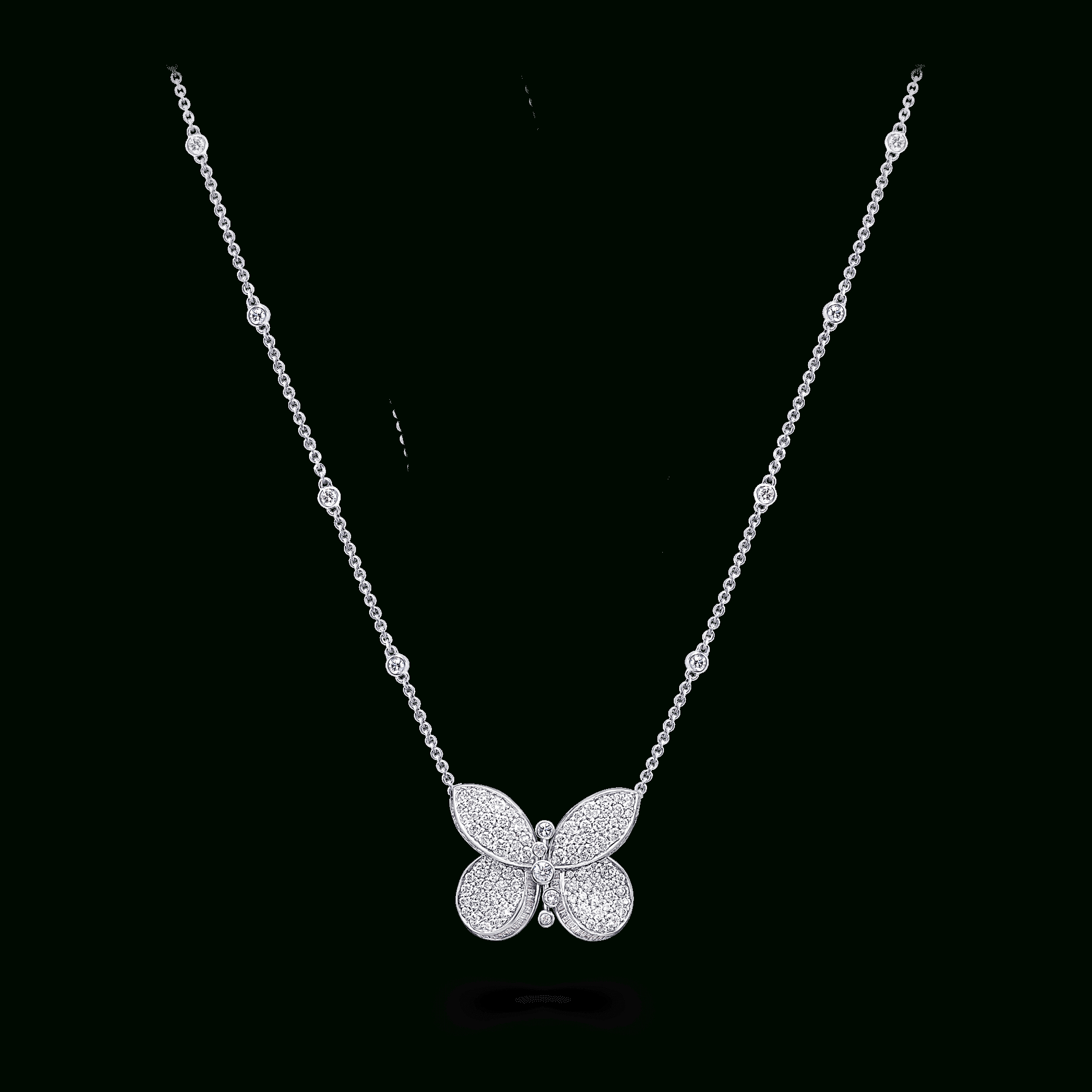 Princess Butterfly Pendant, Diamond | Graff Pertaining To Latest Blue Pavé Butterfly Brooch Necklaces (View 21 of 25)