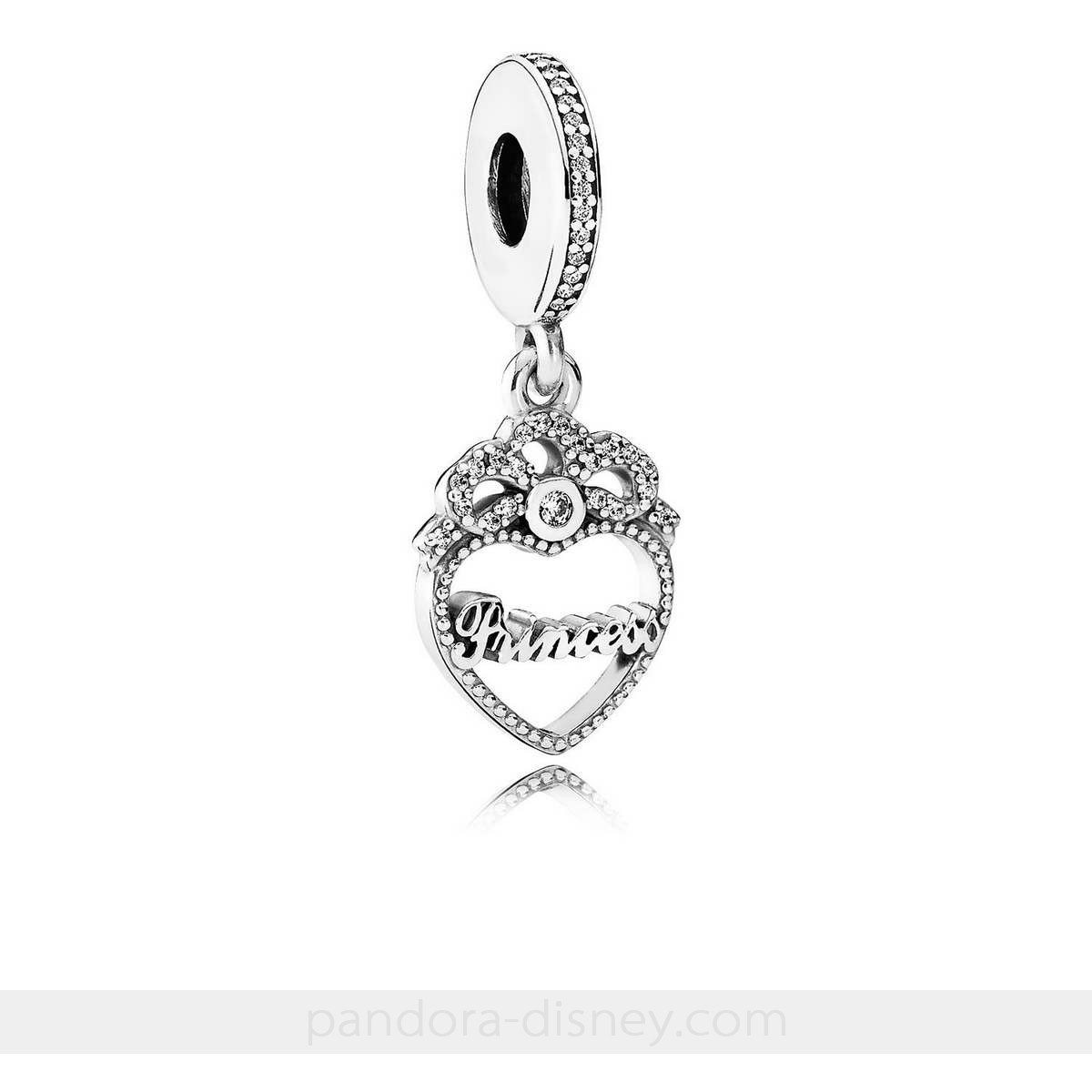 Princess Crown Heart Dangle Charm, Clear Cz 44% Off ∗ (Discount Pandora  Jewelry) Regarding Current Faceted Locket Dangle Charm, Synthetic Amethyst Necklaces (View 19 of 25)