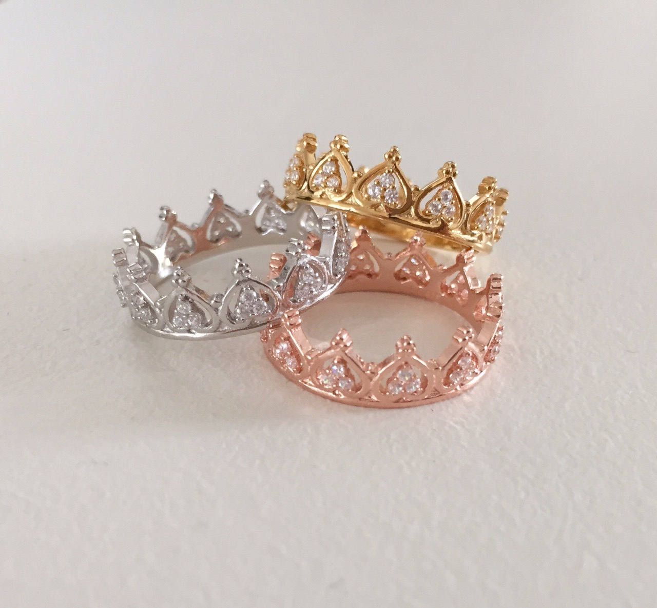 Princess Crown Ring – Tiara Ring – Stackable | Ringscollection Within Most Current Princess Tiara Crown Rings (View 2 of 25)