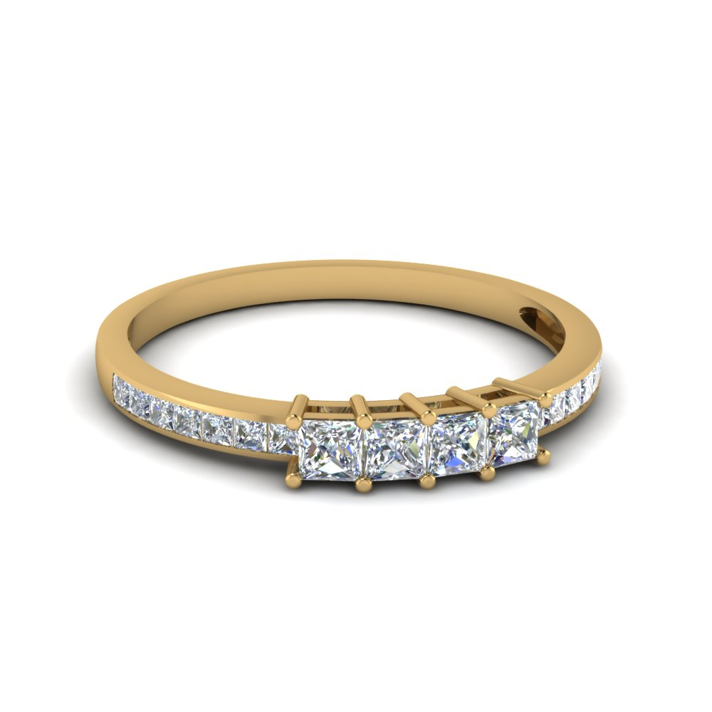 Princess Cut Channel Set Wedding Band Intended For Most Popular Princess Cut Diamond Anniversary Bands In Gold (View 5 of 25)