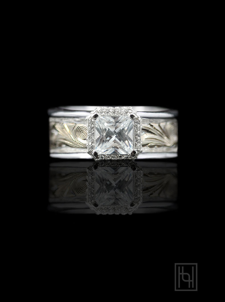 Princess Halo Ring For Best And Newest Square Sparkle Halo Rings (View 19 of 25)