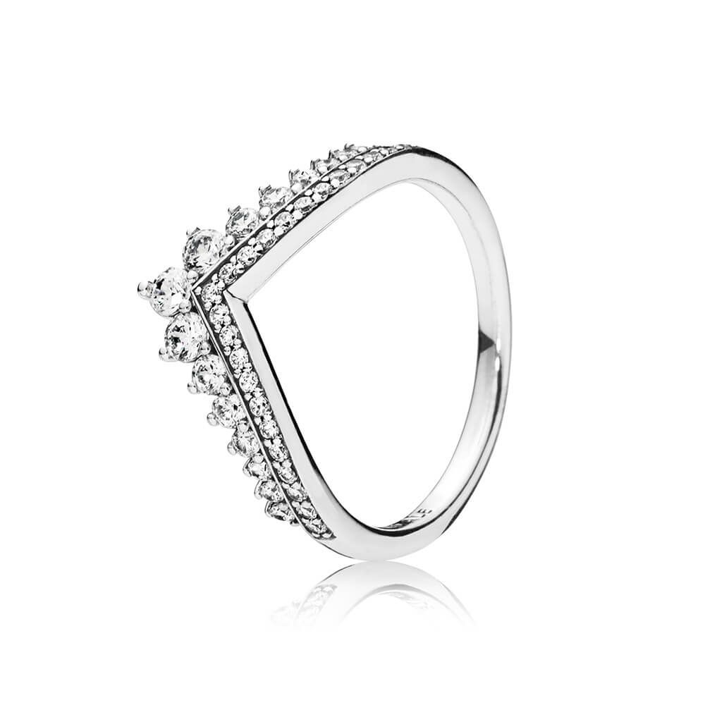 Princess Wish Ring, Clear Cz | Christmas List | Sterling Silver Pertaining To Most Current Wheat Grains Wishbone Rings (Gallery 9 of 25)