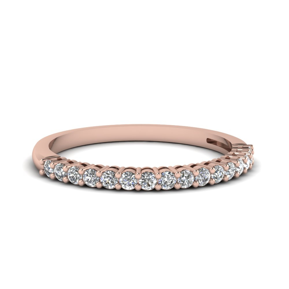 Prong Diamond Anniversary Band With Most Popular Diamond Anniversary Bands In Rose Gold (View 4 of 25)