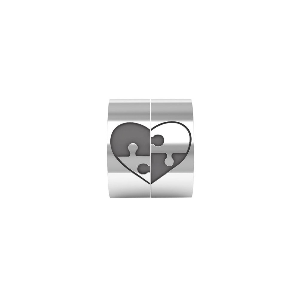 Puzzle Heart Ring, Puzzle Heart Couple Band Ring In Sterling Silver Metal,puzzle Ring, Heart Couple Ring, Matching Rings Pertaining To Most Recently Released Polished Heart Puzzle Rings (View 8 of 25)