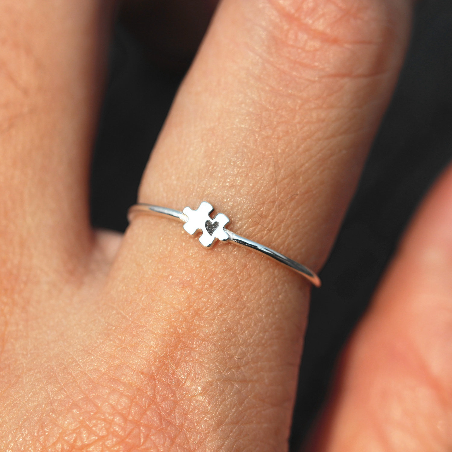Puzzle Ring Silver,heart Ring,we Just Fit Jewelry,ring,autism  Awareness,silver Love Ring,puzzle Ring,silver Puzzle Jewelry,valentine Gift With Regard To Current Polished Heart Puzzle Rings (View 18 of 25)