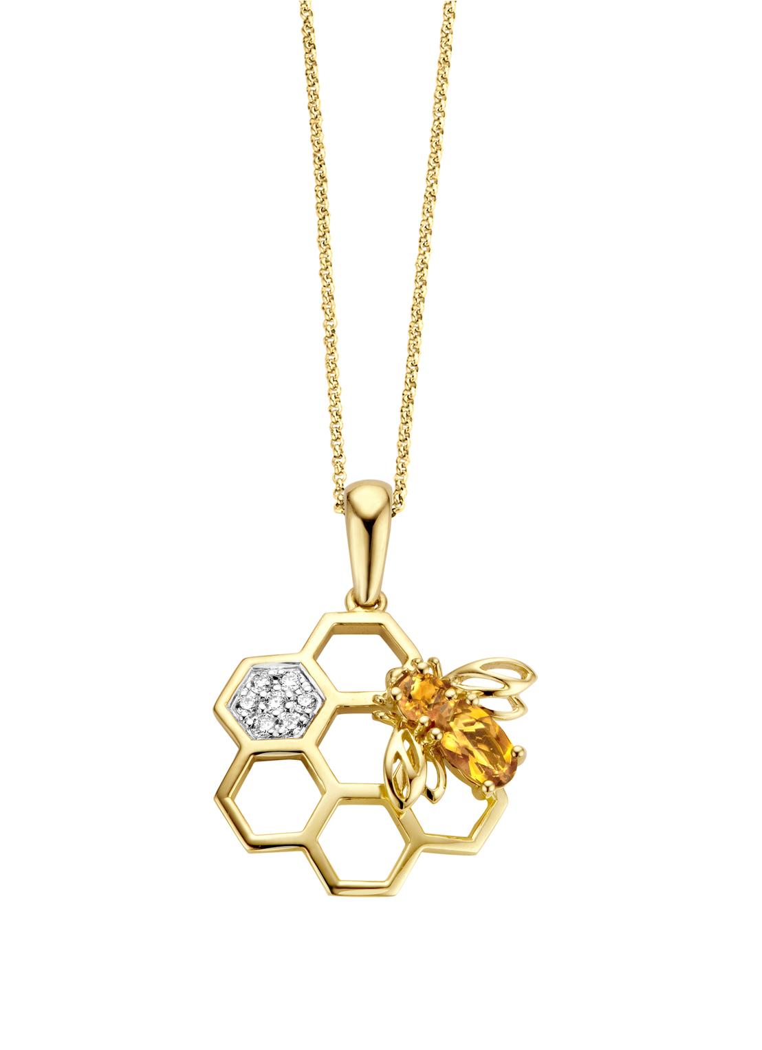 Queen Bee Pendant In 14 Karat Yellow Gold Pertaining To Most Recent Queen Bee Pendant Necklaces (View 4 of 25)