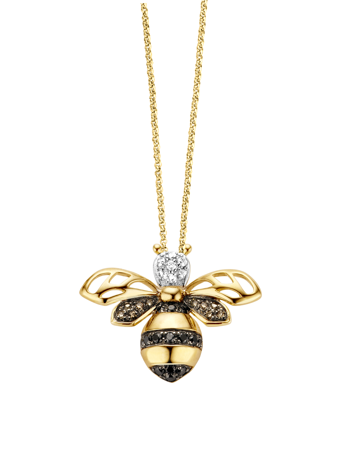 Queen Bee Pendant In 14 Karat Yellow Gold Throughout 2019 Queen Bee Pendant Necklaces (Gallery 5 of 25)