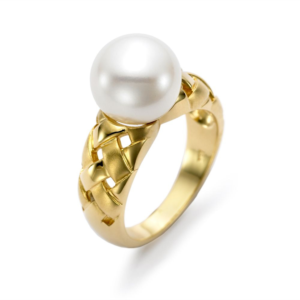 R3016 8 In 2019 | Cultured Pearl Rings | Gold Pearl Ring, Rings Pertaining To Most Popular Bead & Freshwater Cultured Pearl Open Rings (View 19 of 25)