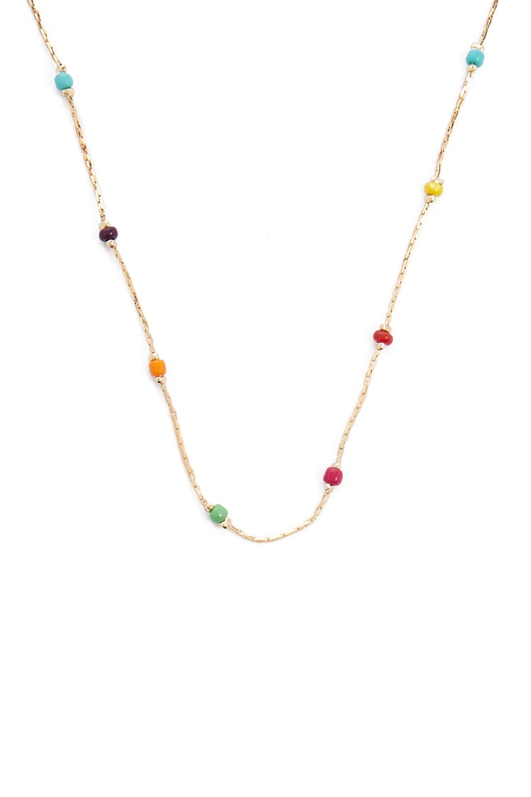 Rainbow Beaded Necklace Pertaining To Most Recently Released Beaded Chain Necklaces (View 20 of 25)