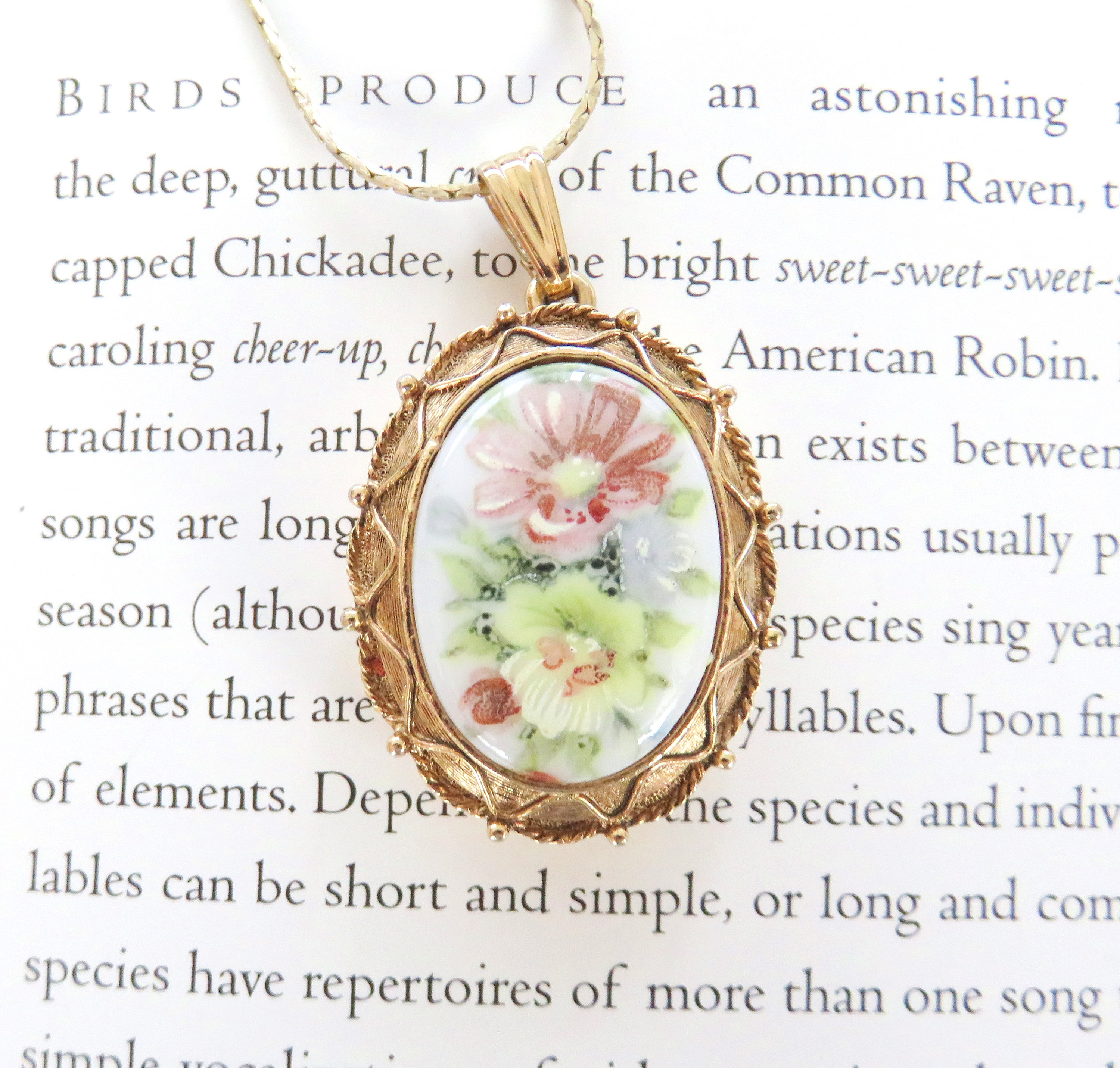 Rare Luzier Solid Perfume Locket Necklace // Floral Perfume Pendant //  Luzier Flower Perfume Locket Intended For Newest Classic Flower Locket Element Necklaces (Gallery 16 of 25)
