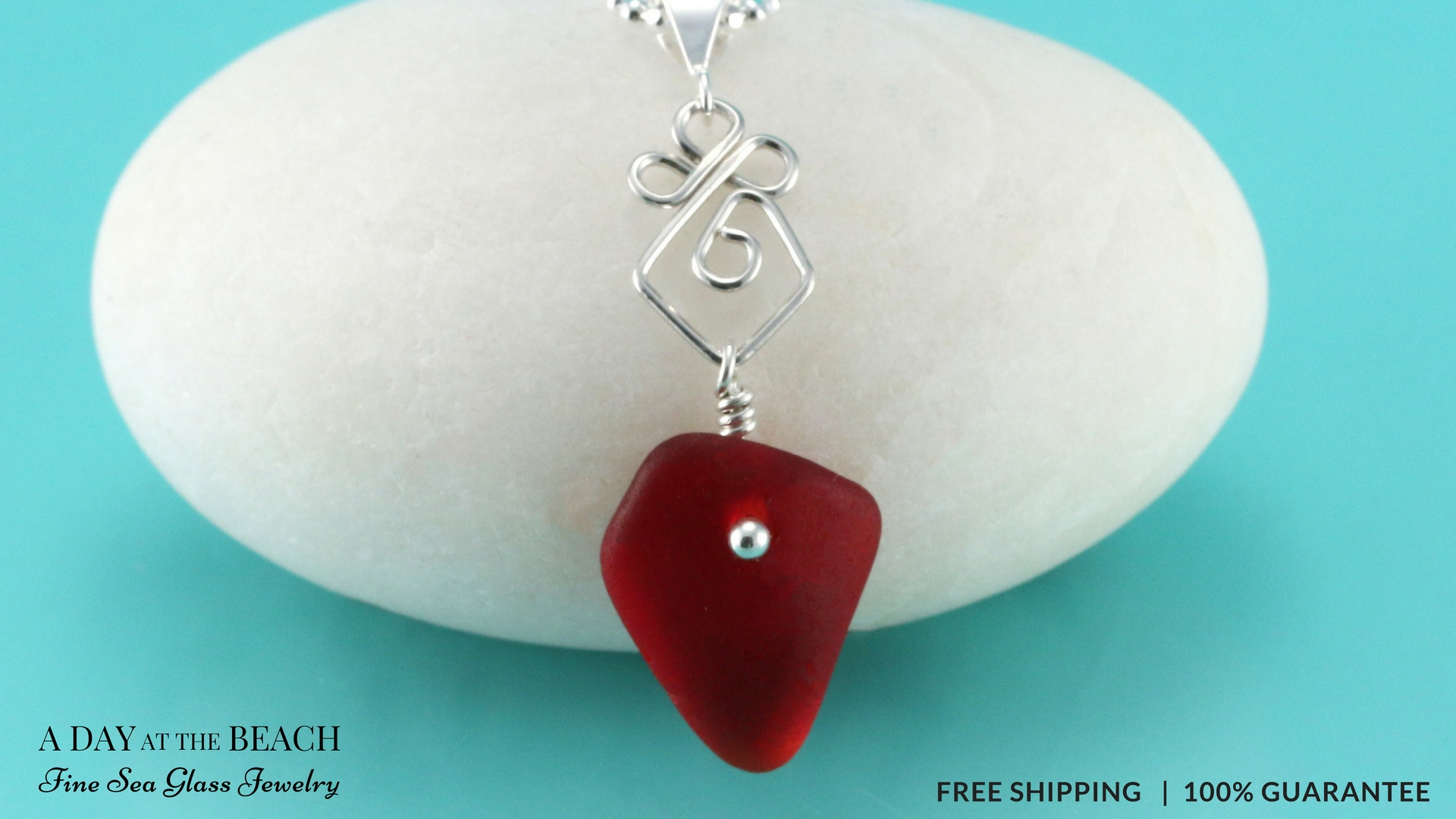 Rare Red Sea Glass Pendant | Genuine | Beach Elegance! Throughout Most Current Garnet Red January Birthstone Locket Element Necklaces (View 15 of 25)