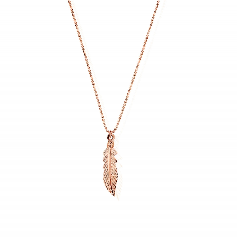 Rcdc2716 Women's Diamond Cut Chain With Feather Pendant Pertaining To Newest Shimmering Feather Pendant Necklaces (View 14 of 25)