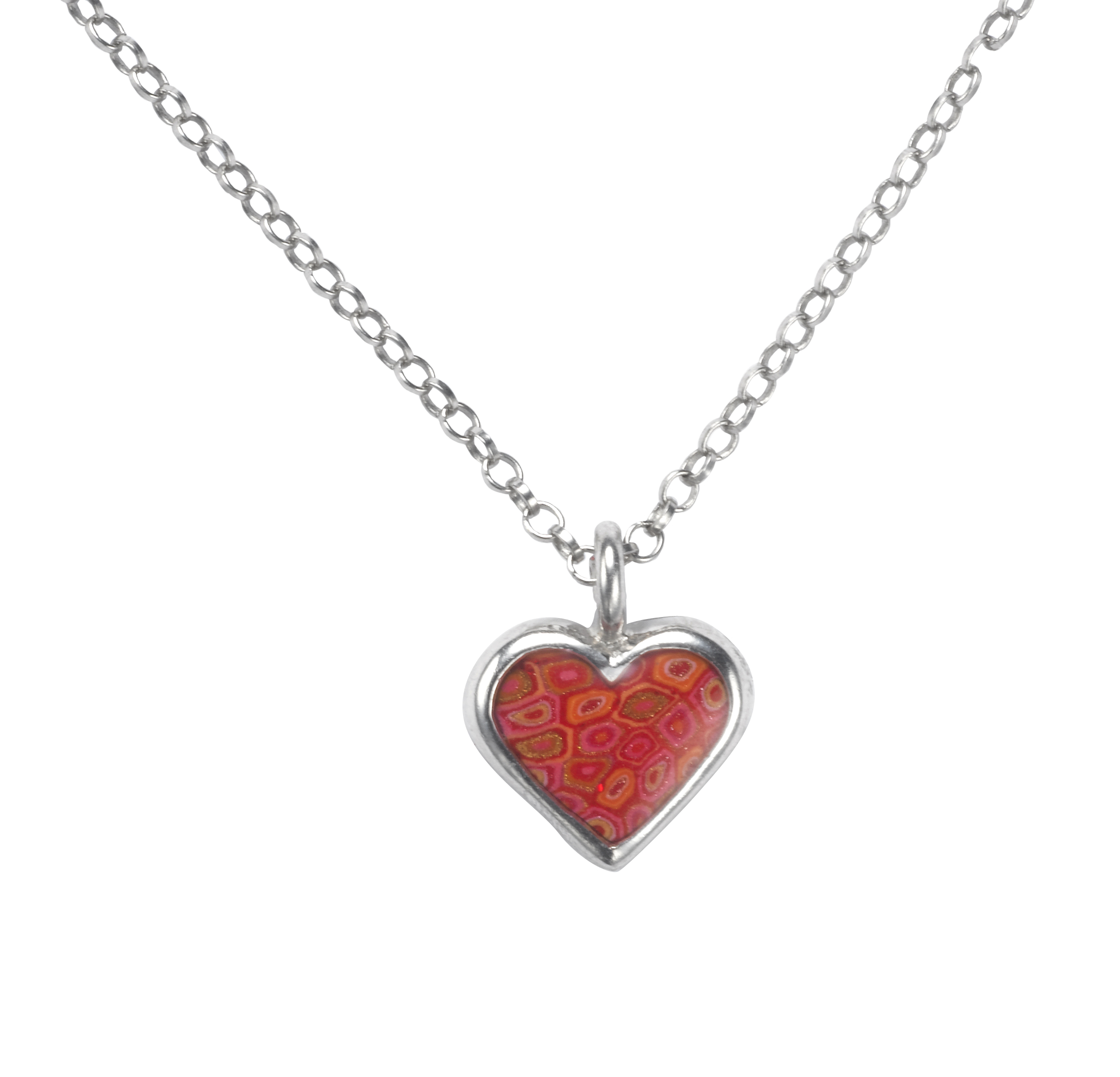 Red Heart Pendant With Circle Chain Necklace With Regard To Best And Newest Joined Hearts Chain Necklaces (View 21 of 25)