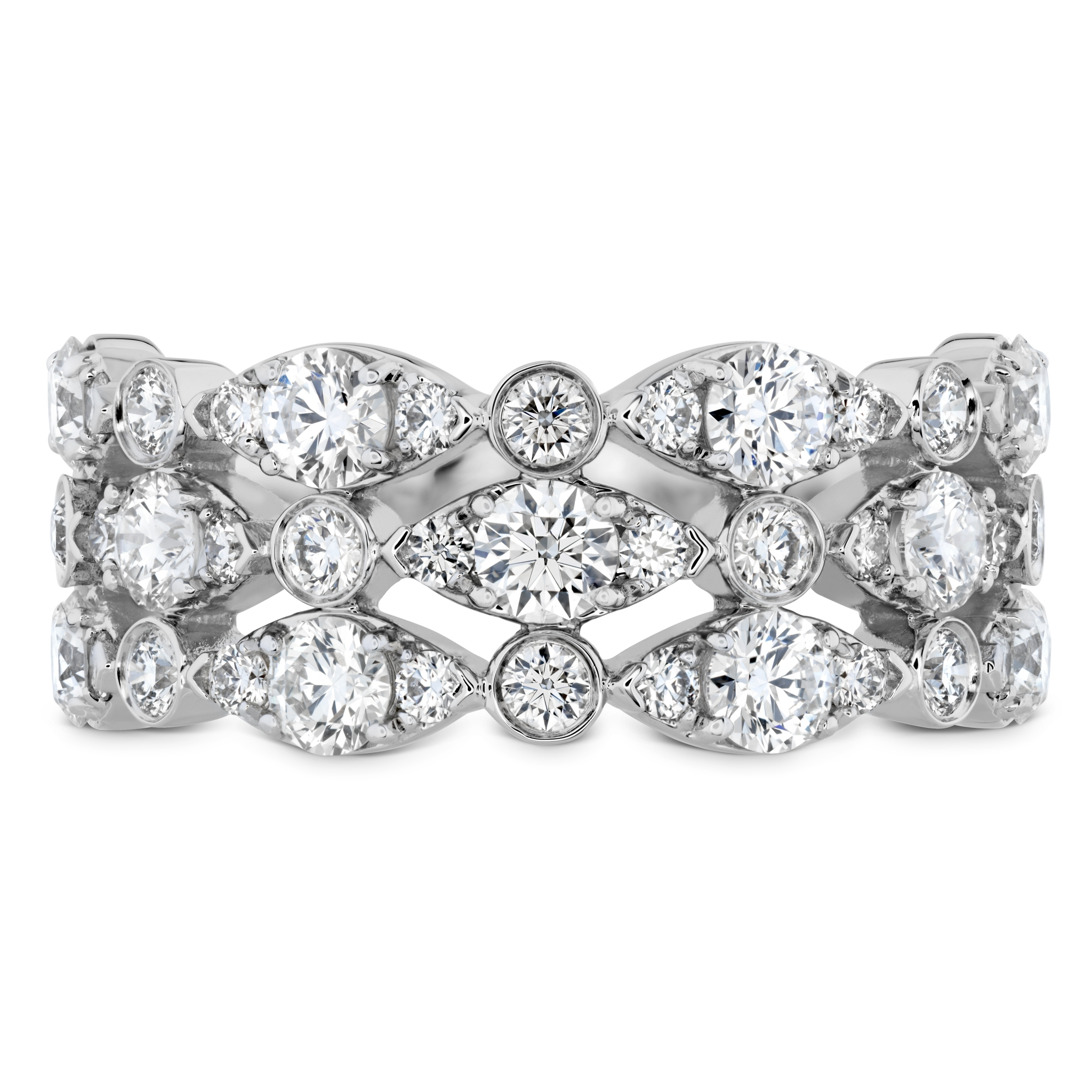 Regal Bezel Triple Band Throughout Best And Newest Regal Band Rings (Gallery 21 of 25)