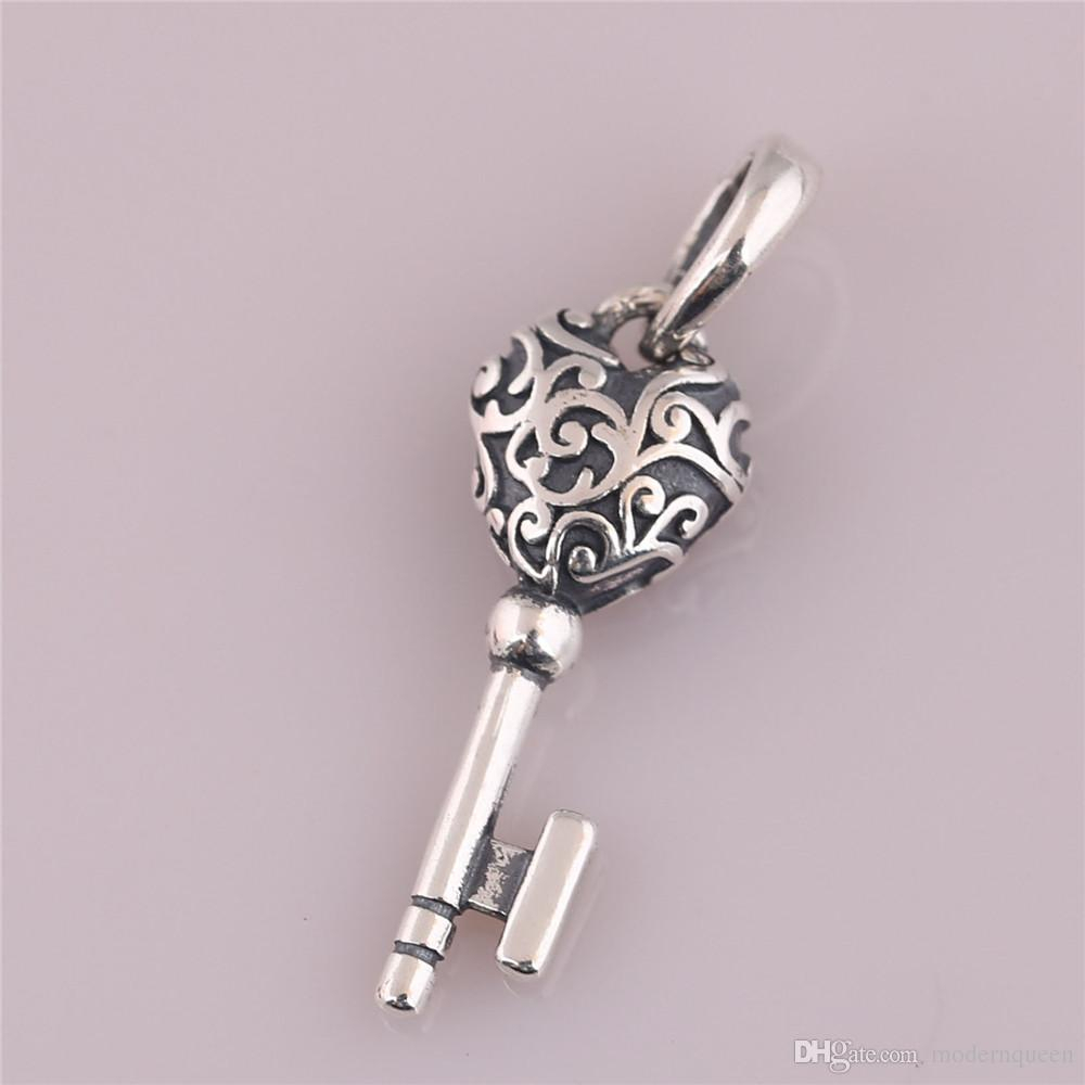 Regal Key Pendant S925 Sterling Silver Fits Pandora Style Bracelet 397725 H8 Regarding Most Current Regal Key Pendant Necklaces (Gallery 5 of 25)