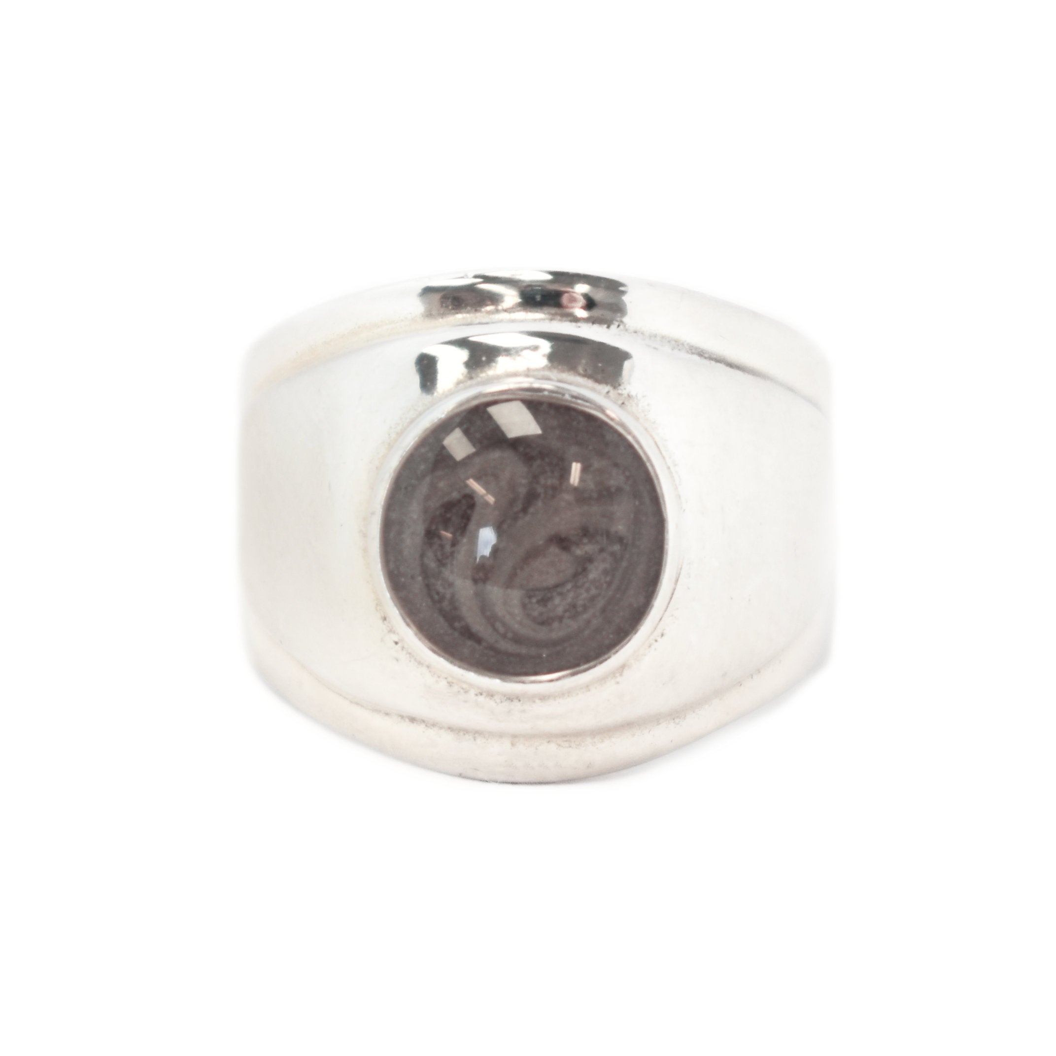 Regal Renaissance Band Cremation Ring With Circle Setting – Sterling Silver  Pet Ashes Jewelry With Most Recent Regal Band Rings (View 23 of 25)