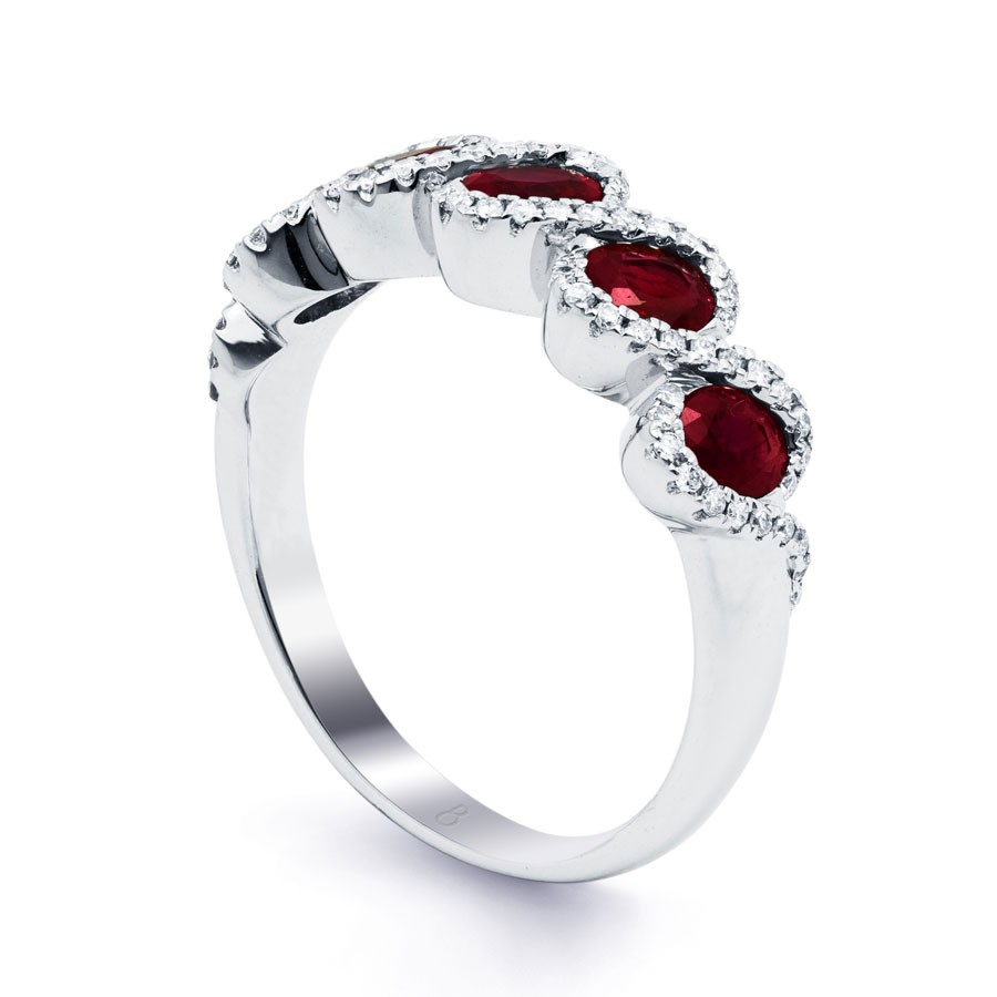 Regal Ruby Modern Eternity Band – Diamond Boutique ® Throughout Most Recently Released Regal Band Rings (Gallery 17 of 25)