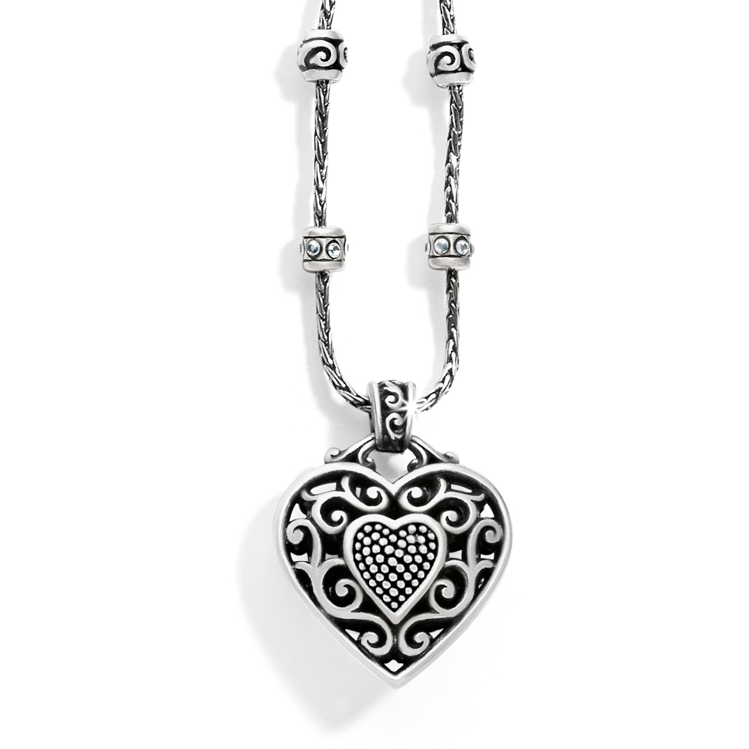 Reno Heart Necklace With Current Heart Fan Pendant Necklaces (View 6 of 25)