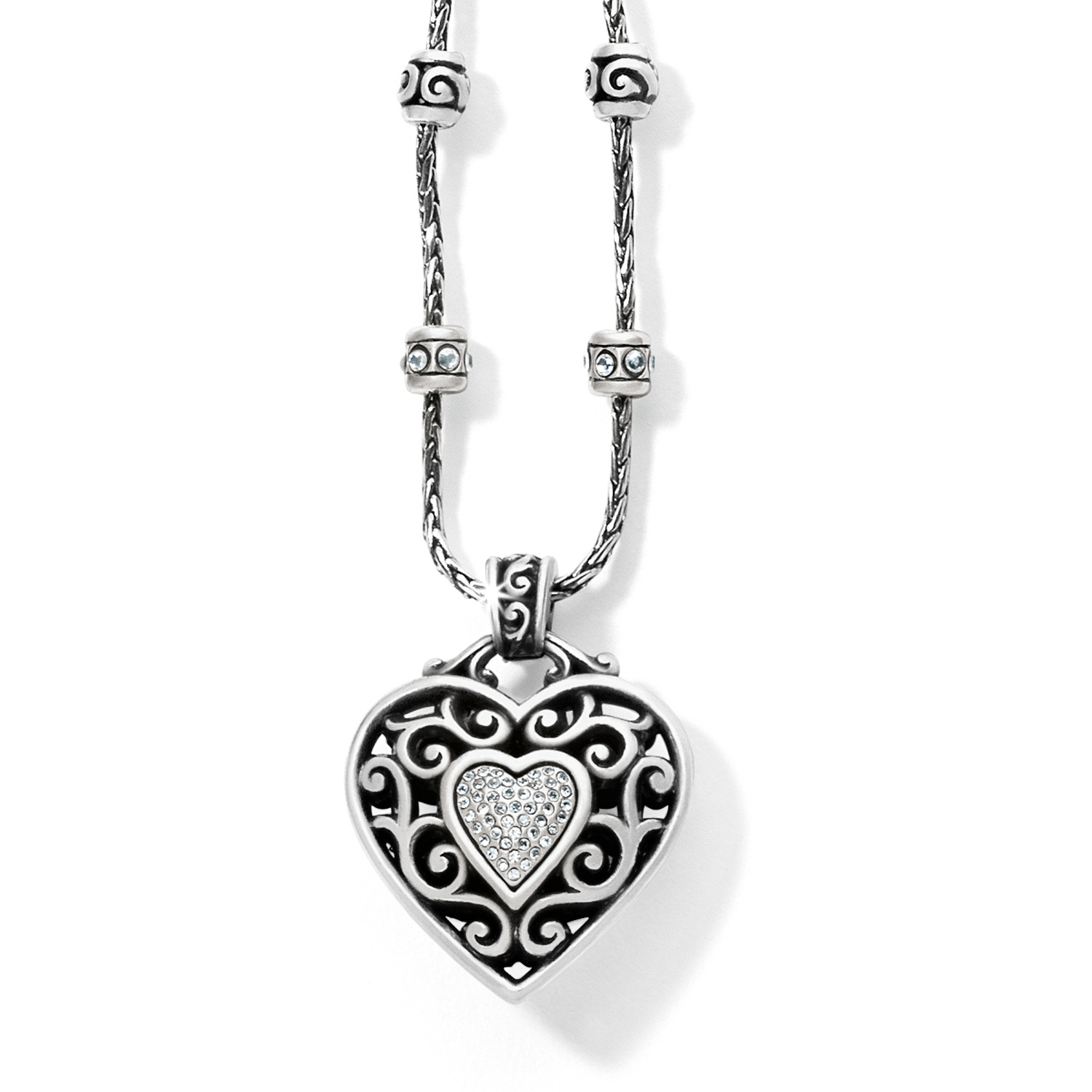 Reno Heart Necklace With Regard To 2020 Heart Fan Pendant Necklaces (View 19 of 25)