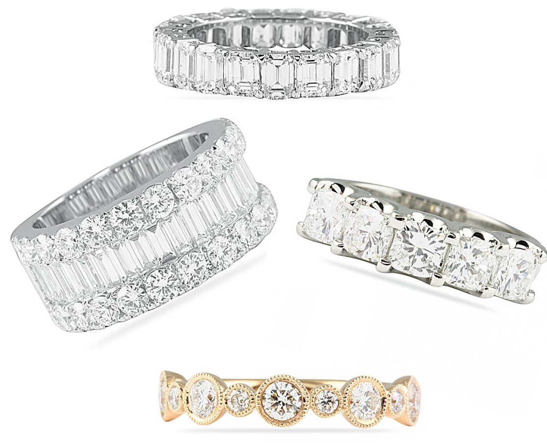 Right Hand Wedding Bands Part Ii | Jewelry Blog | Engagement Inside 2019 Baguette And Round Diamond Alternating Multi Row Anniversary Bands In White Gold (Gallery 23 of 25)