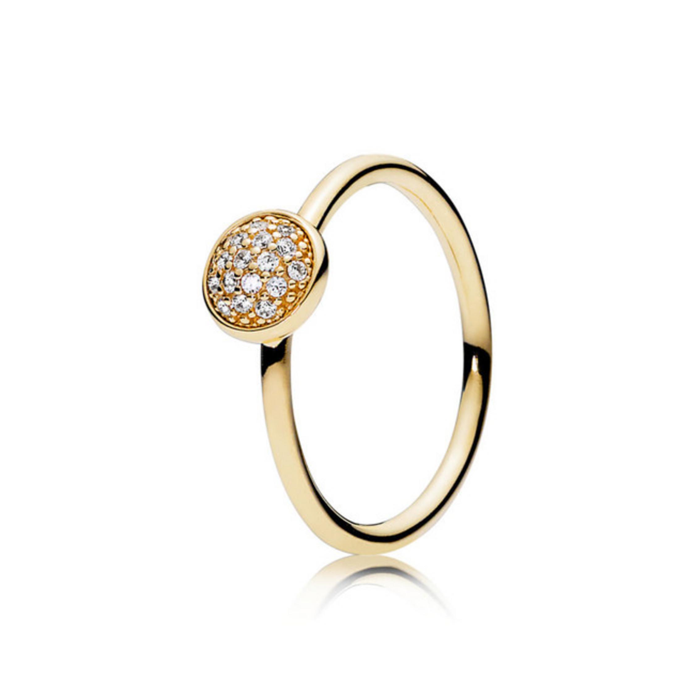 Ring 54 – Gold 585 14K – Glänzendes Tröpfchen – Pandora Inside Newest Pandora Logo Pavé Rings (Gallery 25 of 25)