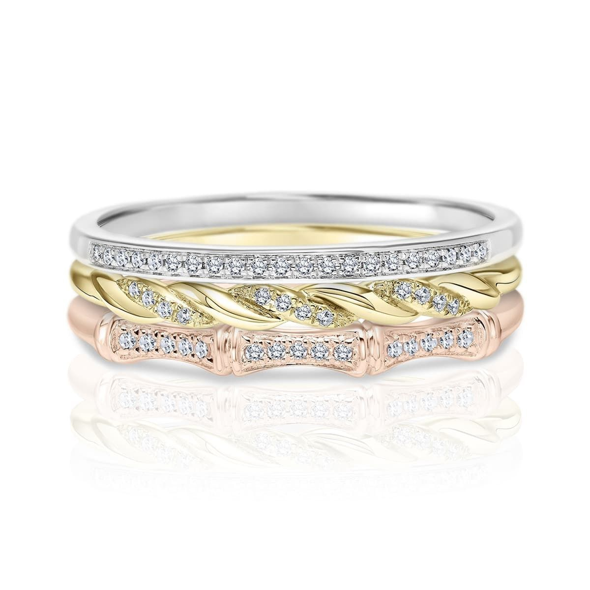 Rings | Diamonds International Regarding Newest Diamond Three Row Anniversary Bands In Rose Gold (View 13 of 25)