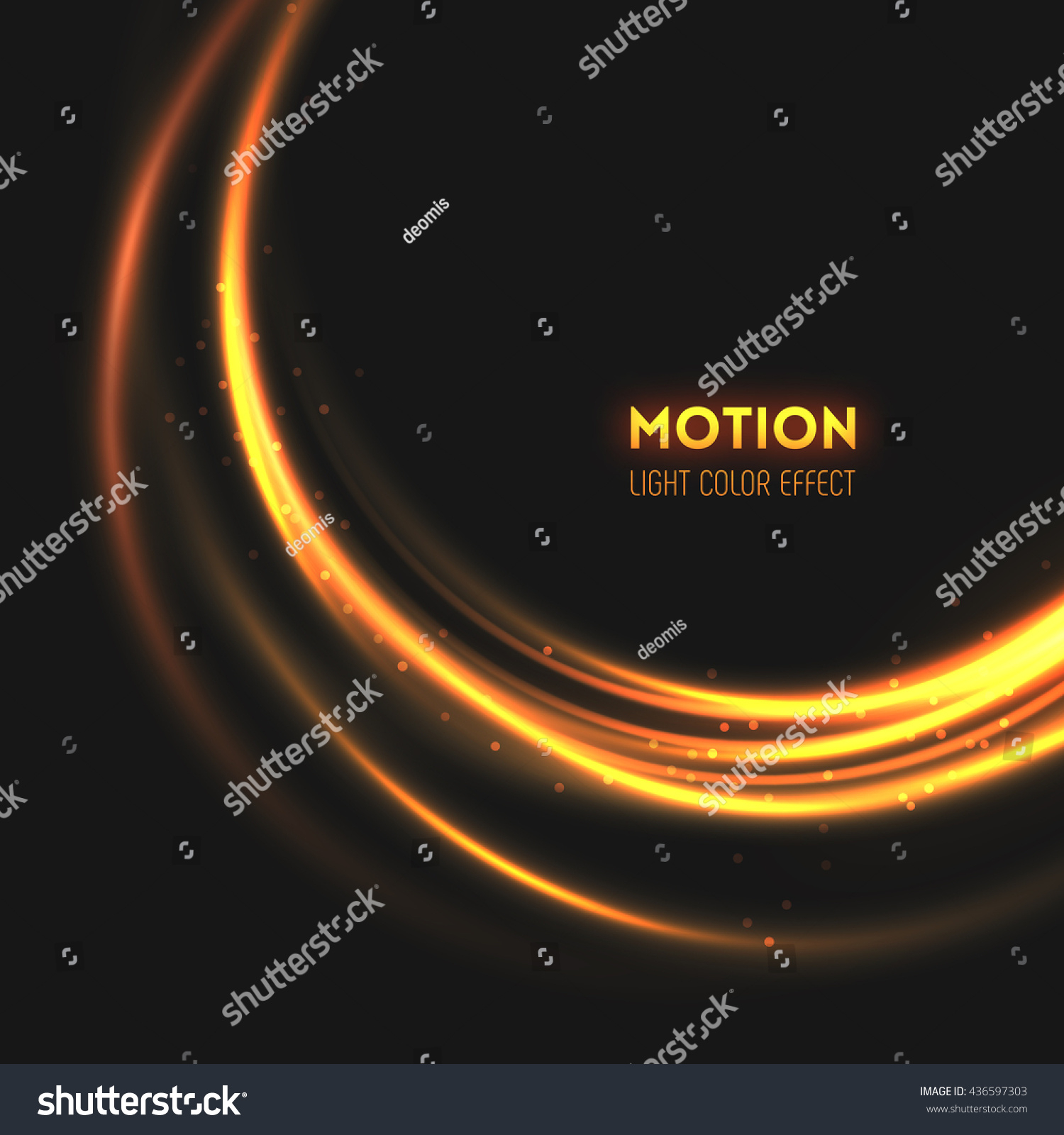 Rings Light Sparkling Lines Bokeh Particles Stock Vector (royalty In Most Recently Released Swirling Lines Rings (View 7 of 25)