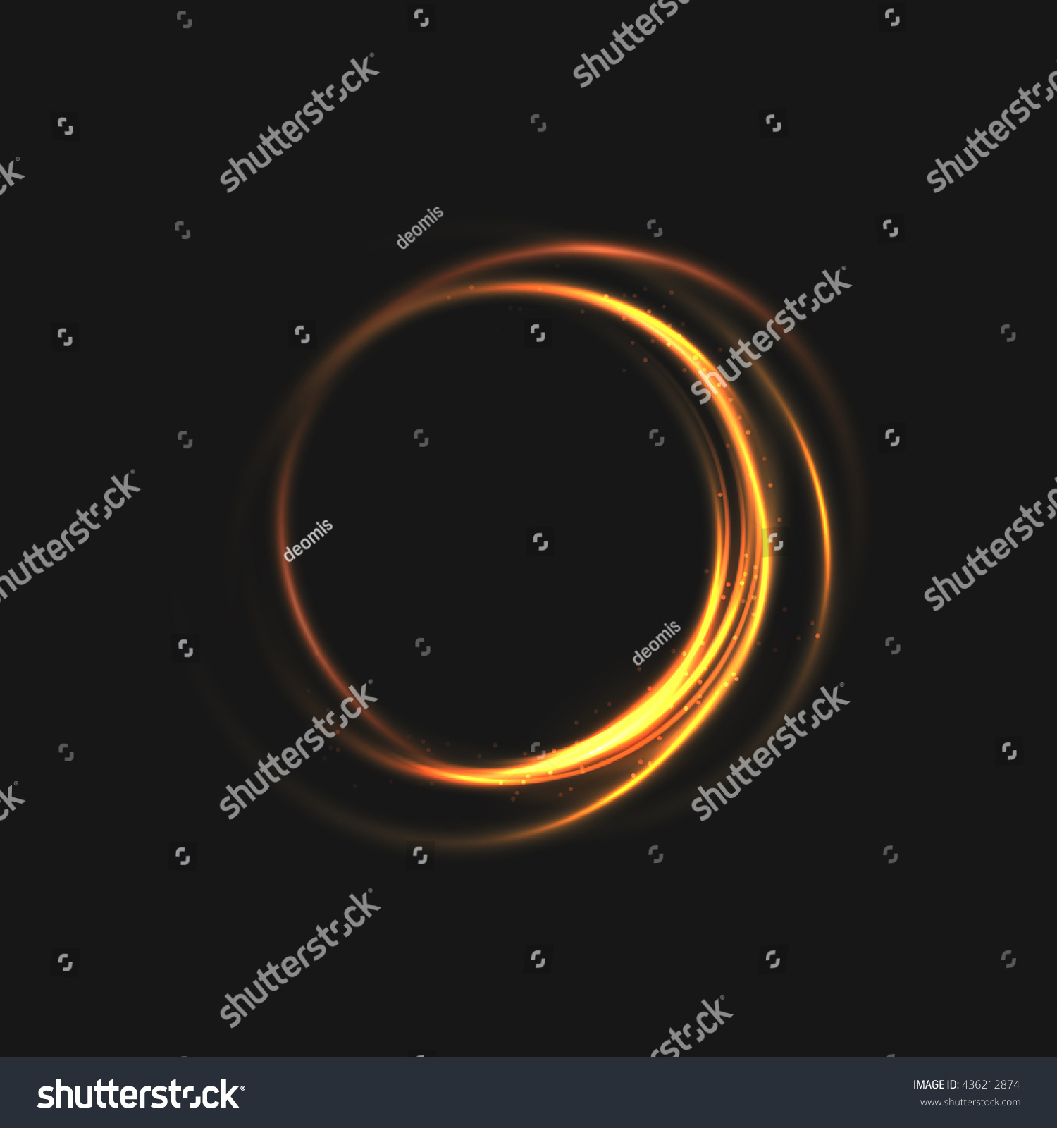 Rings Light Sparkling Lines Bokeh Particles Stock Vector (royalty Inside Most Recently Released Swirling Lines Rings (View 3 of 25)