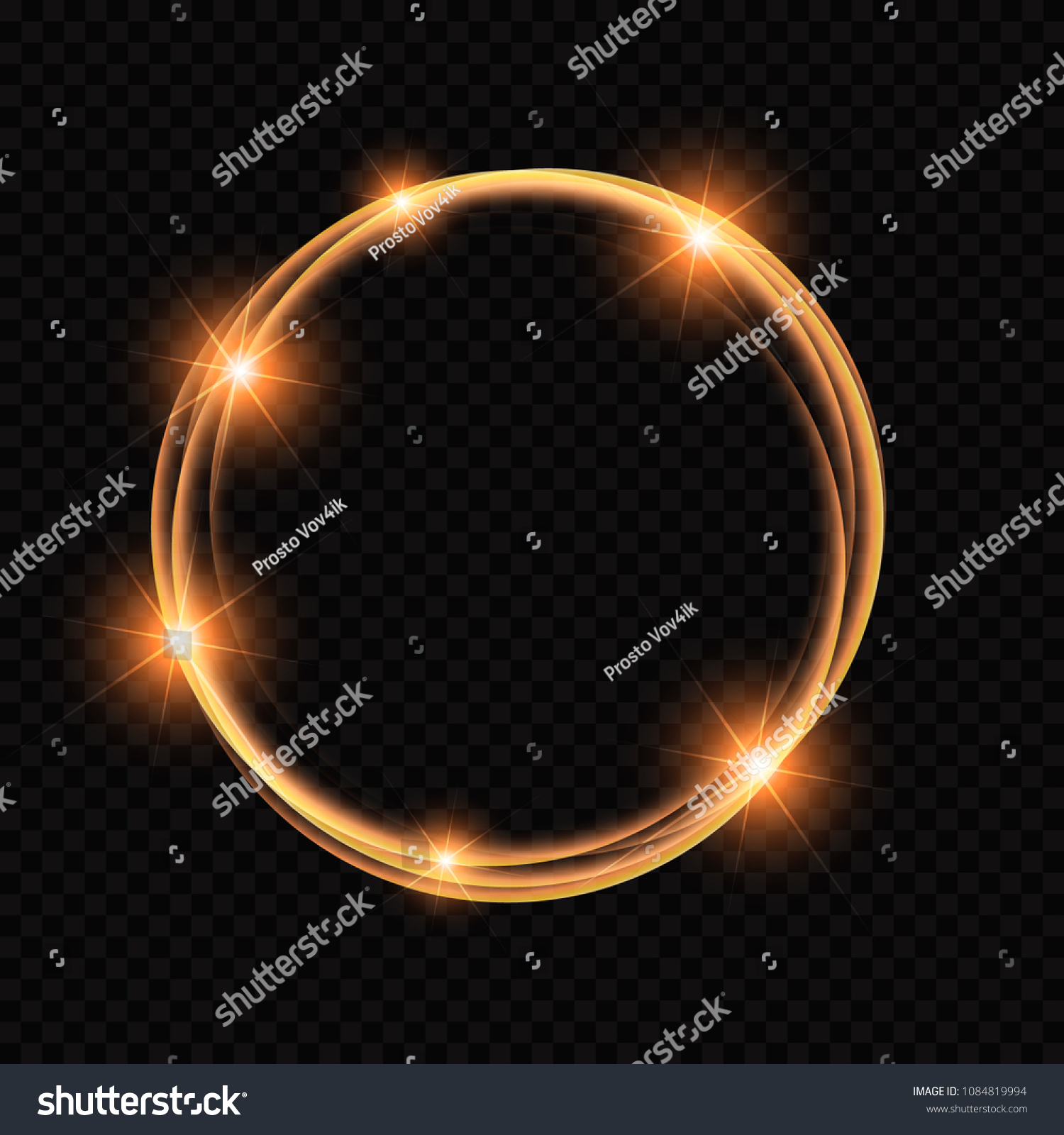 Rings Light Sparkling Lines Bokeh Particles Stock Vector (Royalty Throughout Newest Sparkling Pattern Rings (Gallery 8 of 25)