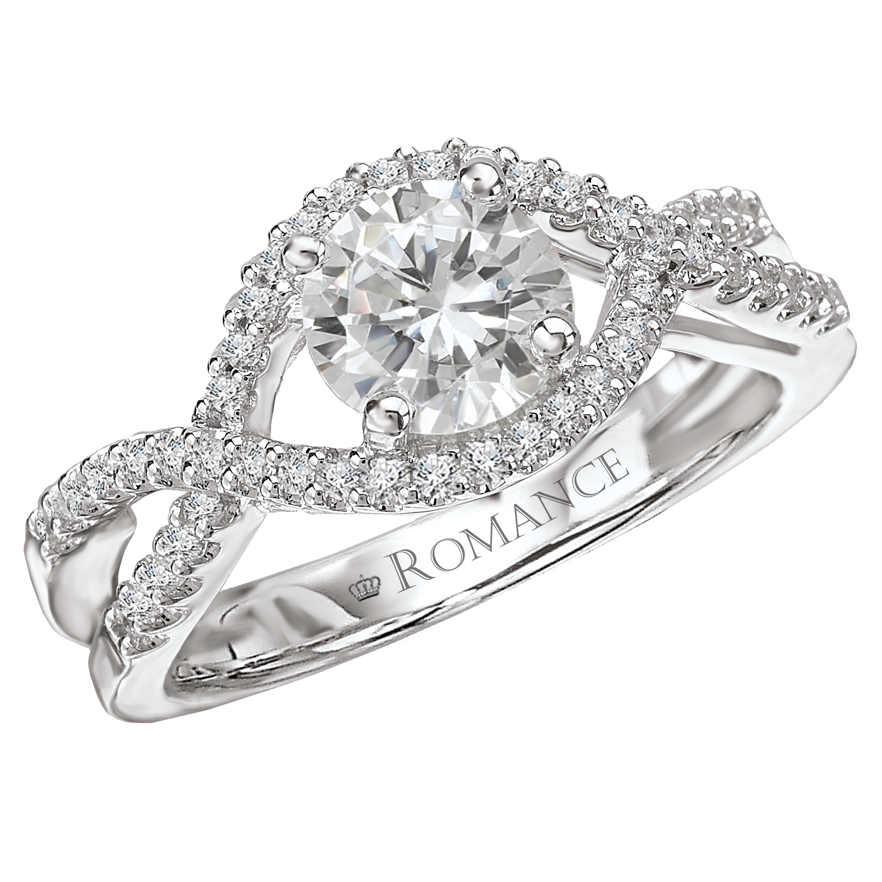 Romance Open Shoulder With A Twist Engagement Ring In 2019 Diamond Double Row Contour Tiara Anniversary Bands In White Gold (Gallery 22 of 25)