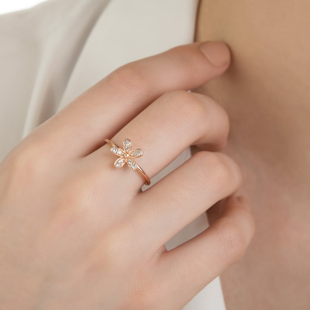 Featured Photo of Sparkling Daisy Flower Rings