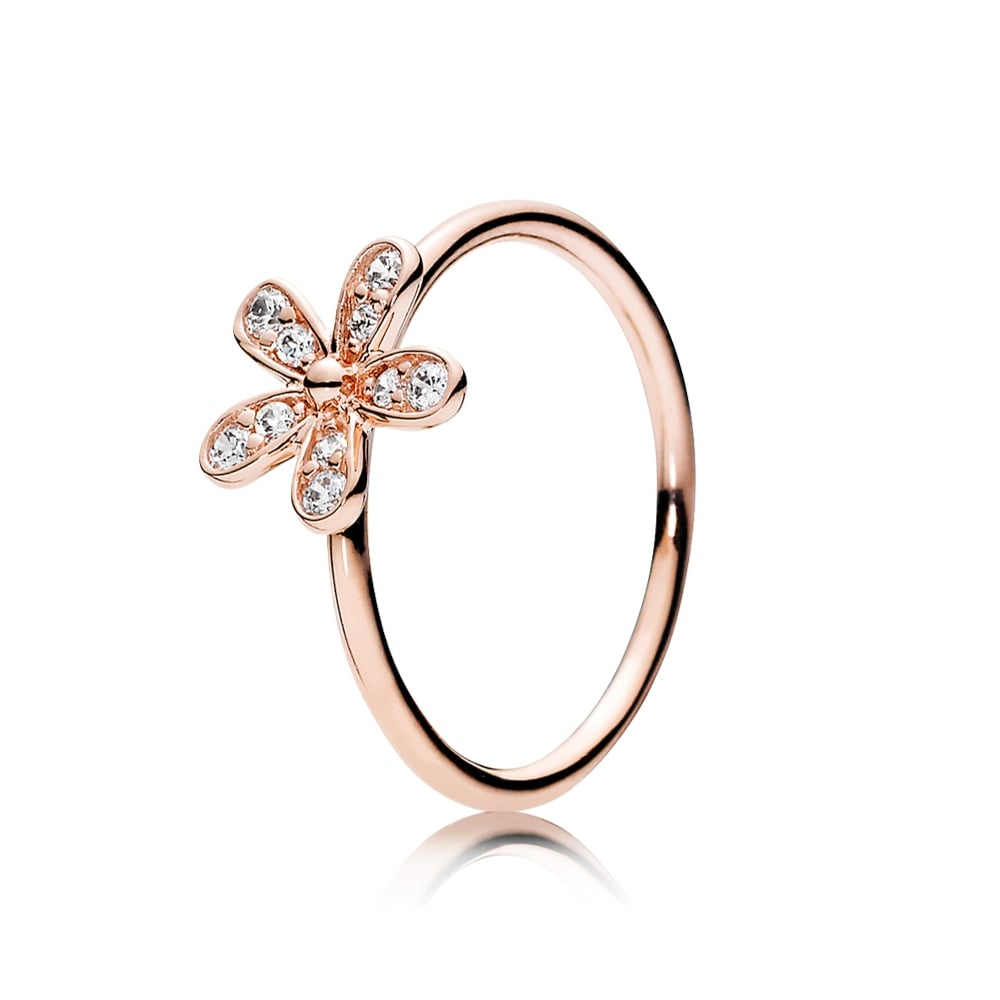 Rose Dazzling Daisy Ring 180932cz Regarding Current Sparkling Daisy Flower Rings (View 6 of 25)