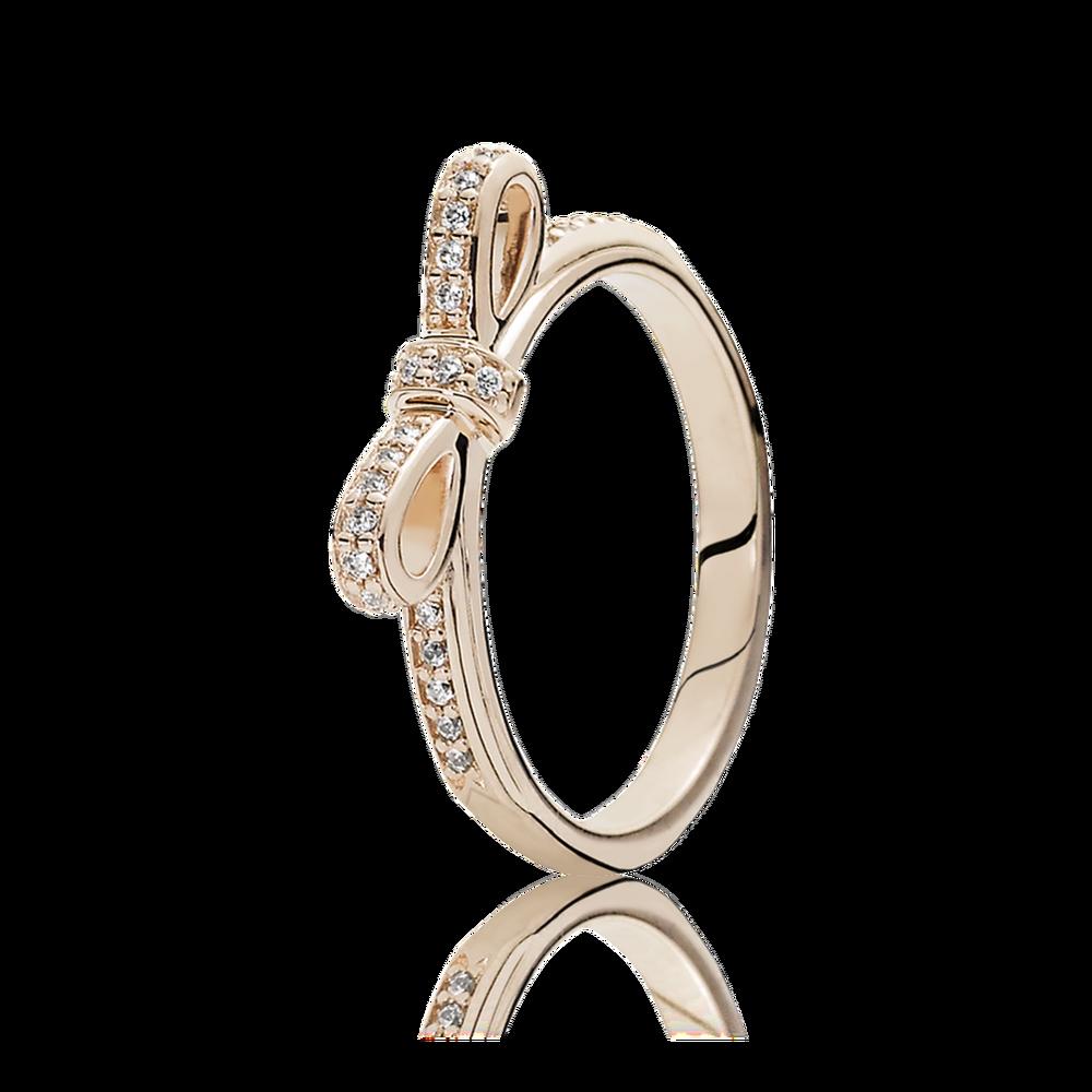 Rose Gold Crown Ring Pandora Lovely Sparkling Bow Ring Pandora Rose In 2018 Clear Sparkling Crown Rings (View 12 of 25)