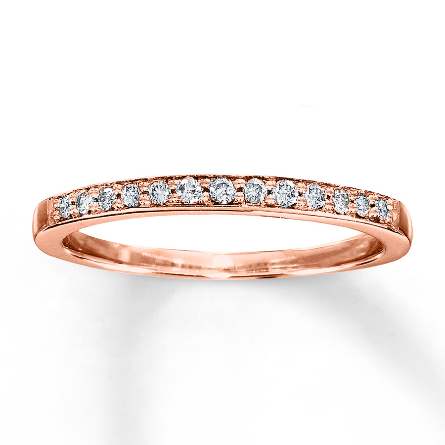 Rose Gold Diamond Wedding Band With Regard To 2019 Diamond Anniversary Bands In Rose Gold (View 6 of 25)