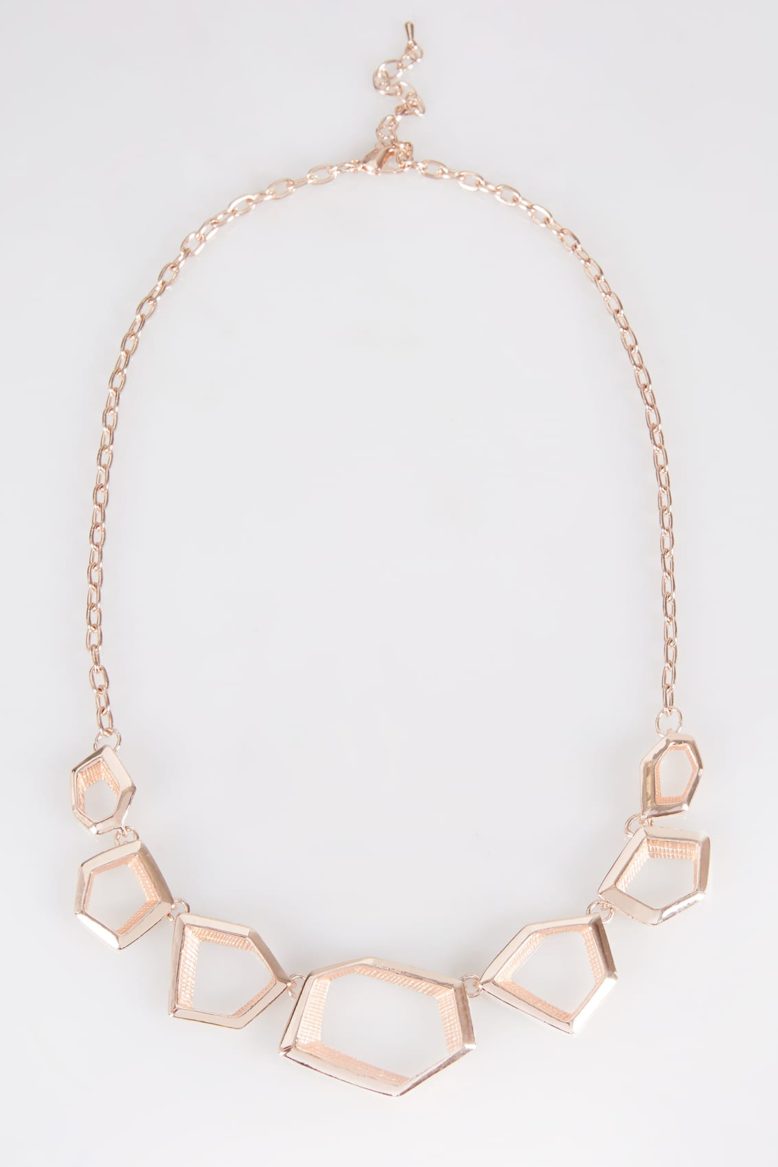 Rose Gold Geometric Necklace Pertaining To Most Recently Released Geometric Lines Necklaces (View 13 of 25)