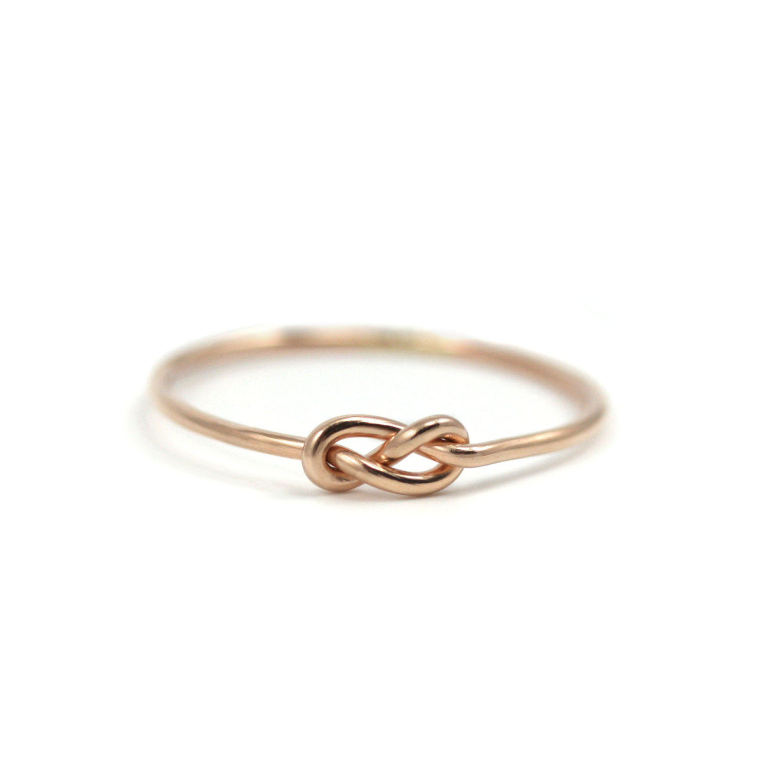 Rose Gold Infinity Knot Ring Handmade Gold Filled Knot With Best And Newest Simple Infinity Band Rings (View 2 of 25)