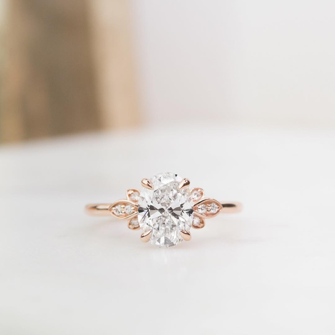 Rose Gold Oval Rings | Brilliant Earth For 2019 Diamond Vintage Style Anniversary Bands In Rose Gold (View 18 of 25)