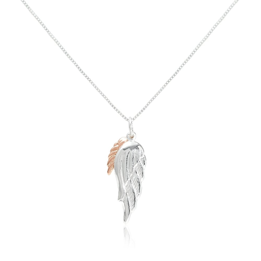 Rose Gold Vermeil Angel Wing Pendant Necklace Within Most Recently Released Angel Wing Pendant Necklaces (View 19 of 25)