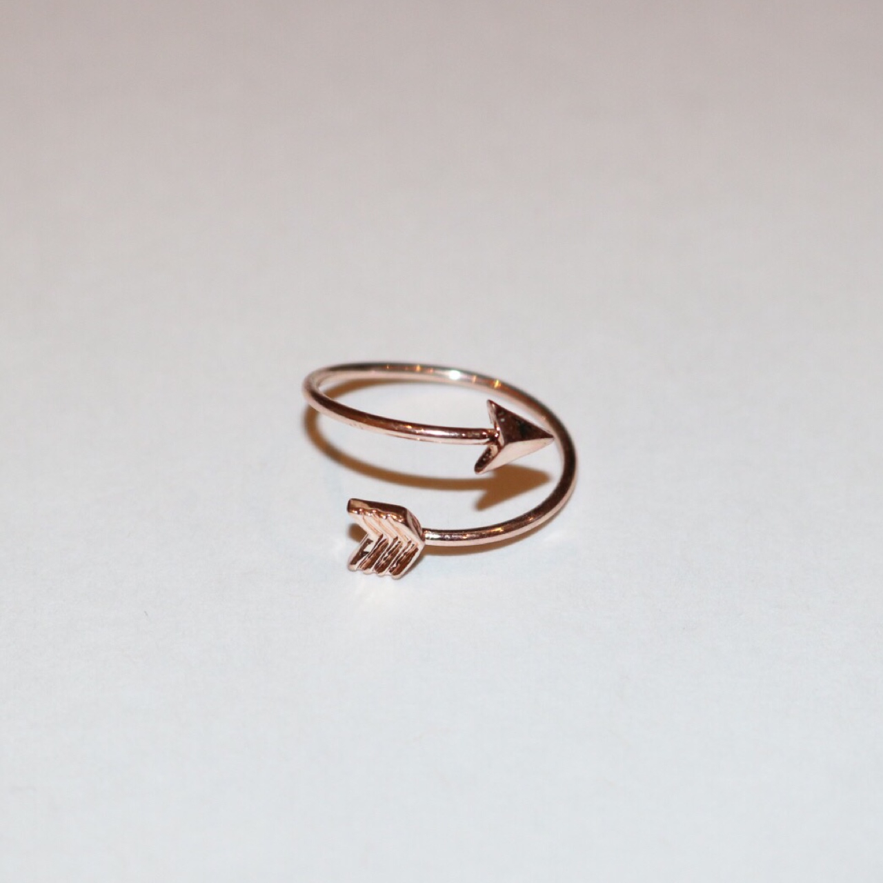 Rose Gold Wrap Around Adjustable Bow And Arrow Ring (View 8 of 25)